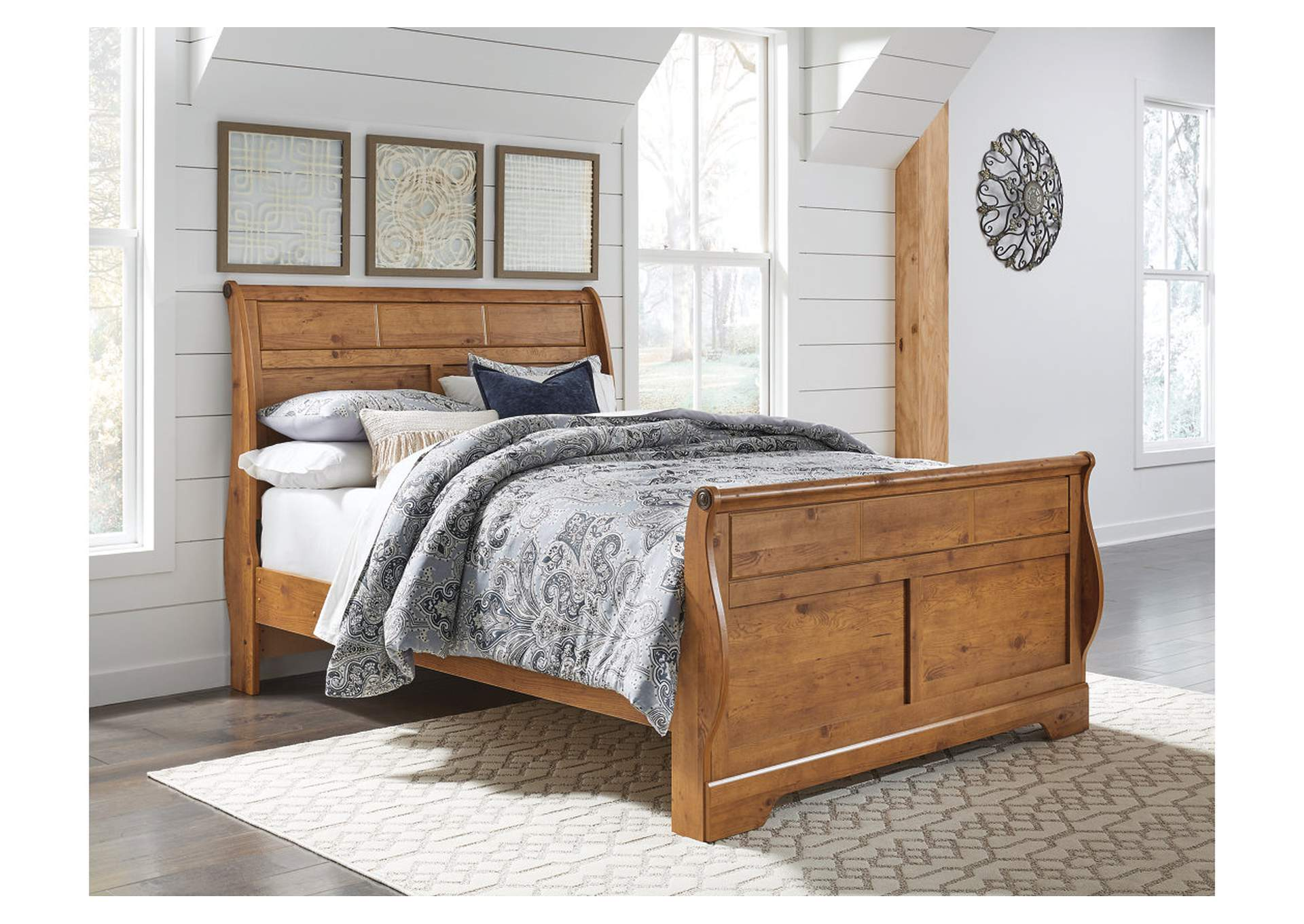 Bittersweet Light Brown Queen Sleigh Bed,Direct To Consumer Express