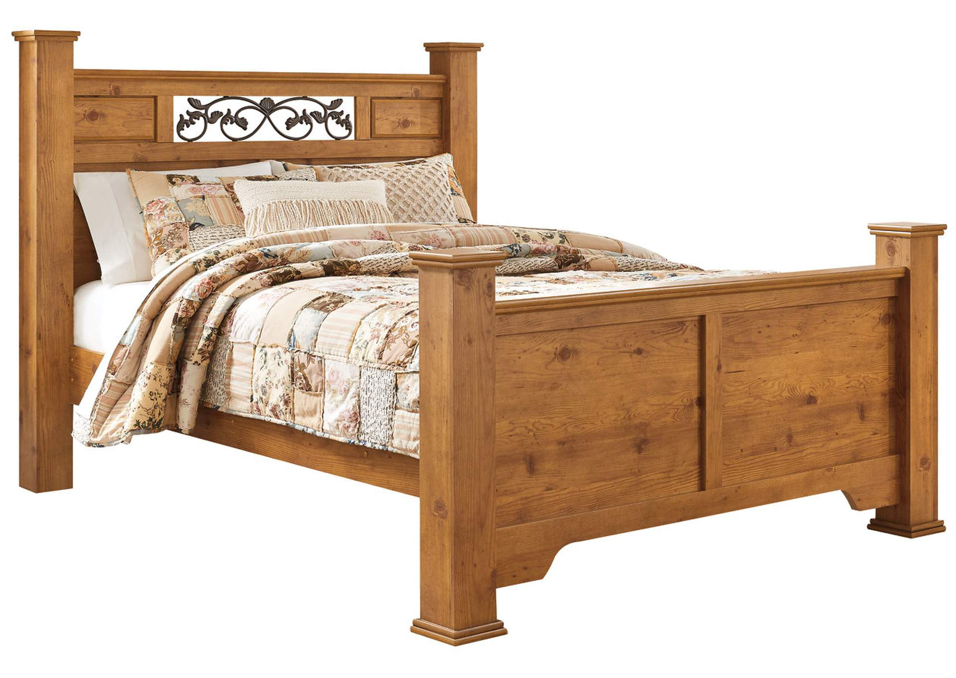 Bittersweet Light Brown Queen Poster Bed,Signature Design By Ashley