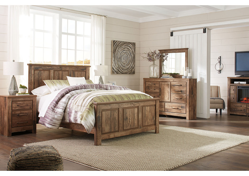 Blaneville Brown Queen Panel Bed w/Dresser and Mirror,Signature Design By Ashley