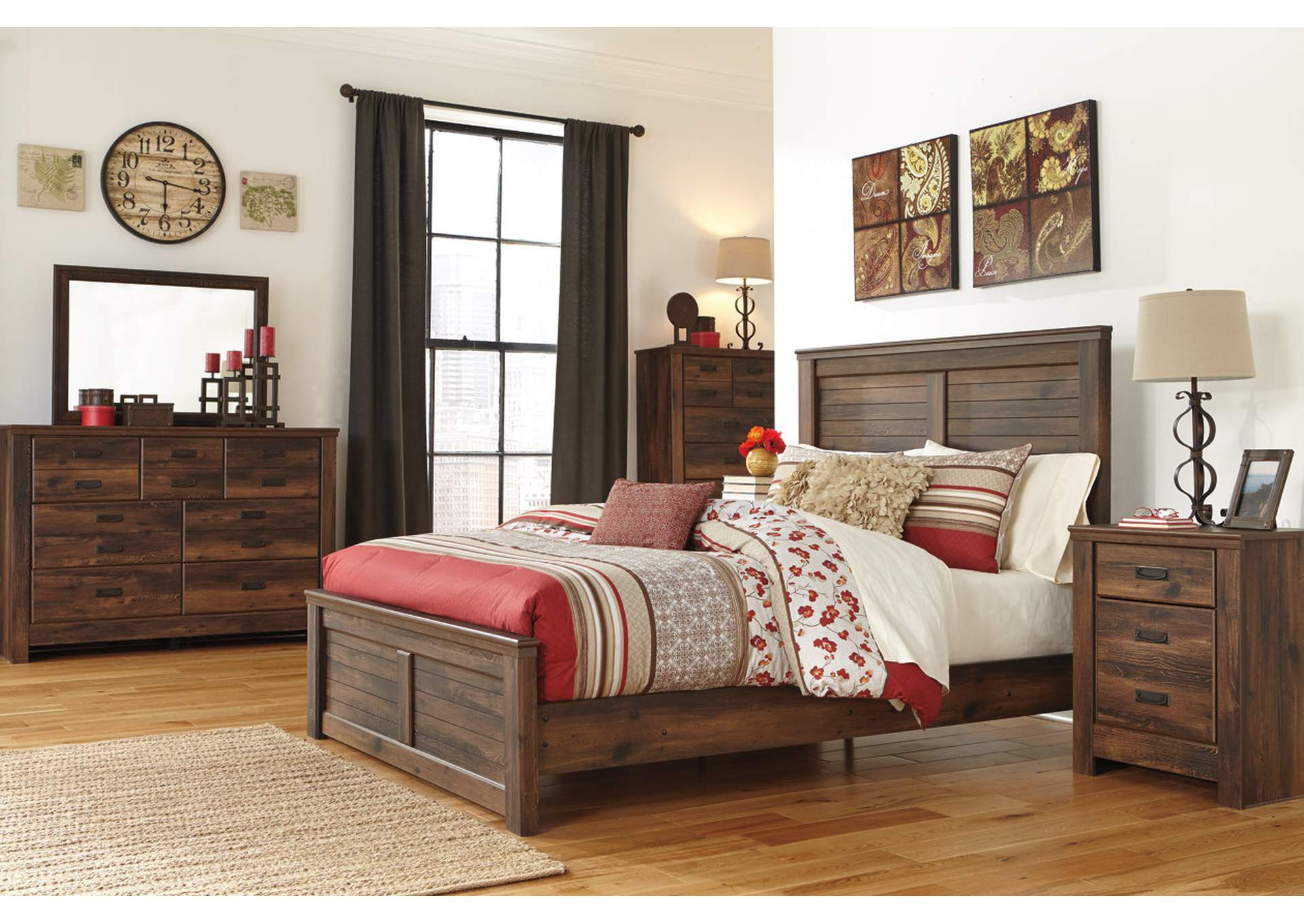 Quinden Queen Panel Bed, Dresser & Mirror,Signature Design By Ashley