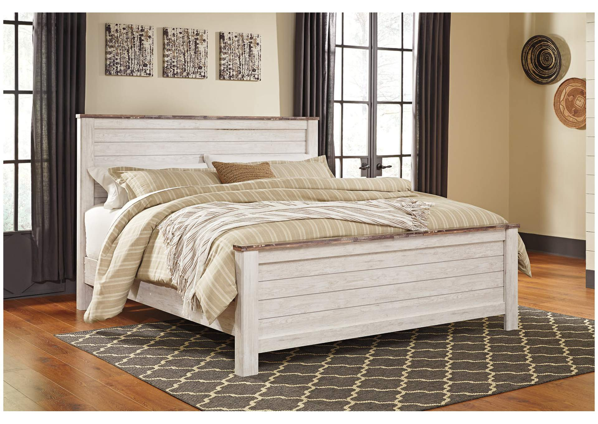 Willowton California King Panel Bed,Signature Design By Ashley