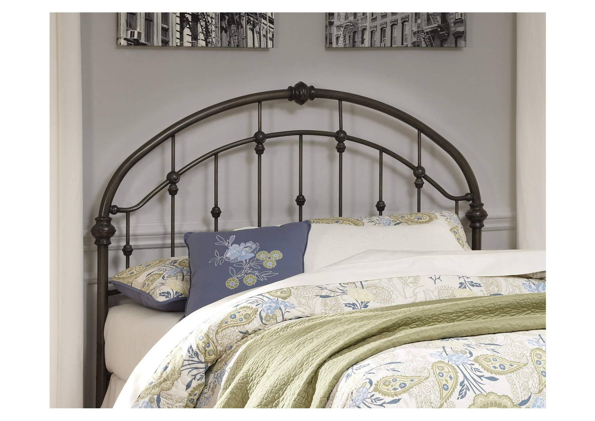 Bronze Finish Metal Queen Headboard,Direct To Consumer Express