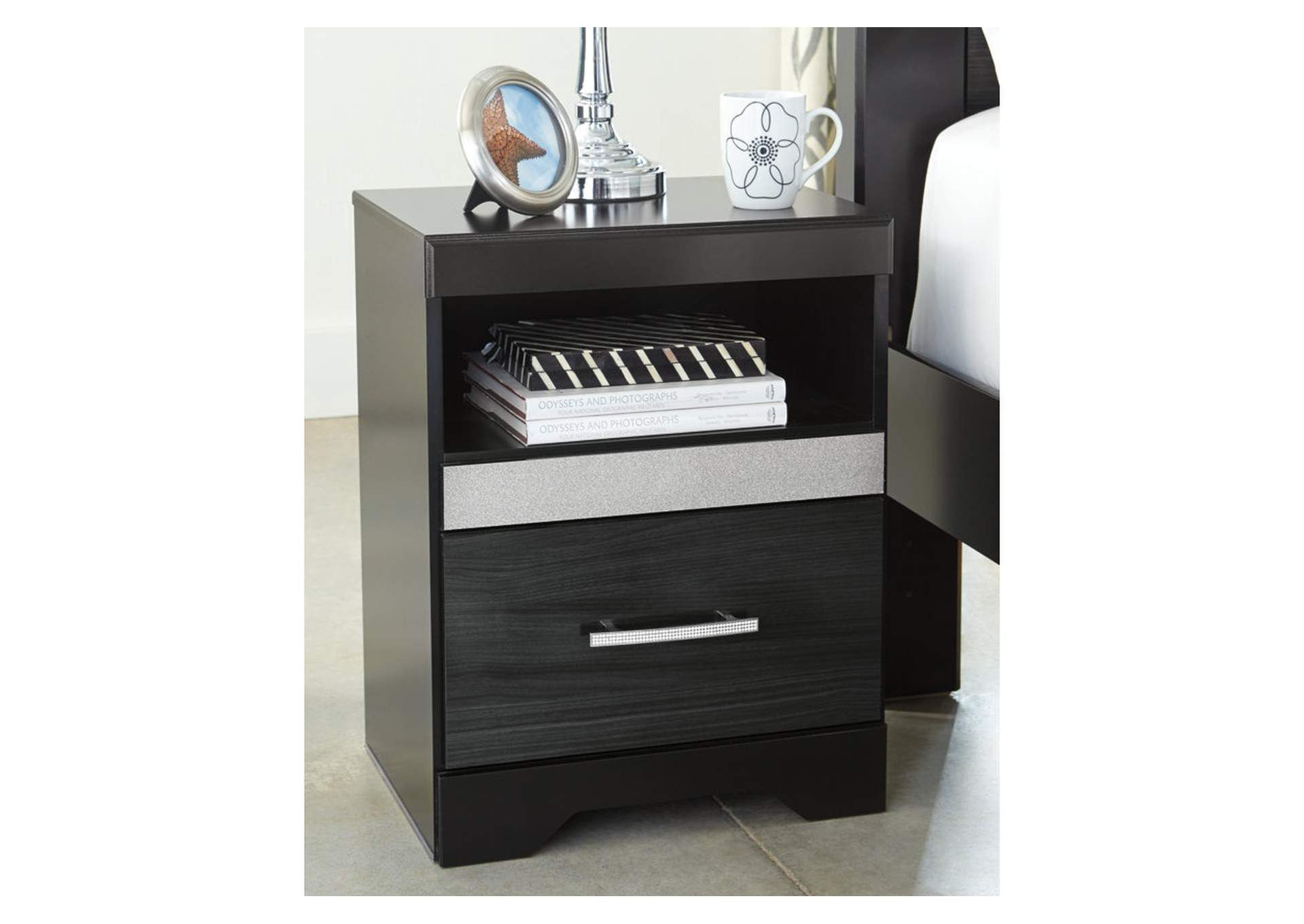 Starberry Black One Drawer Nightstand,Direct To Consumer Express