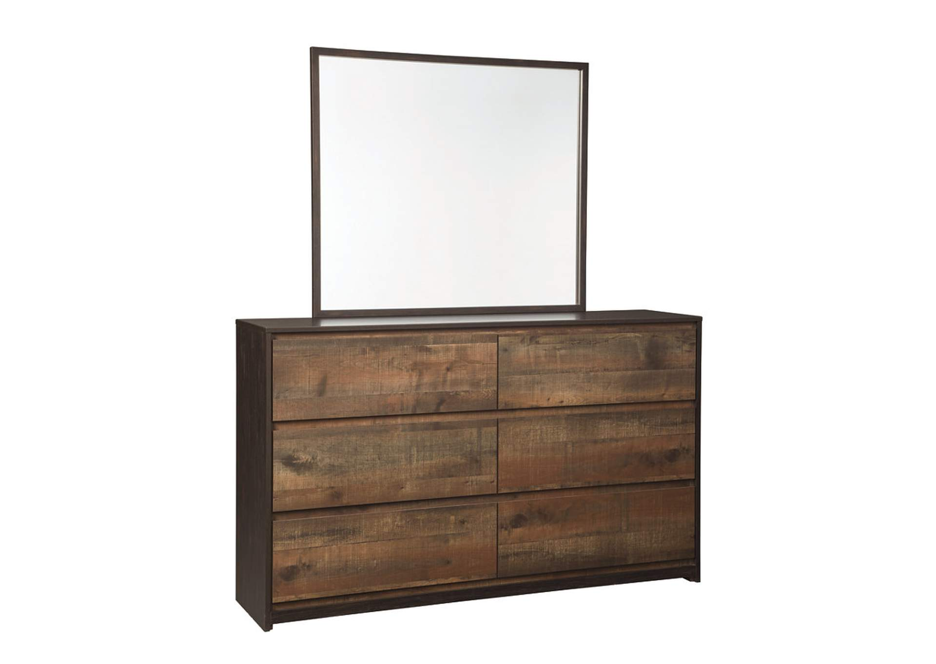 Windlore Dark Brown Dresser w/Mirror,Signature Design By Ashley