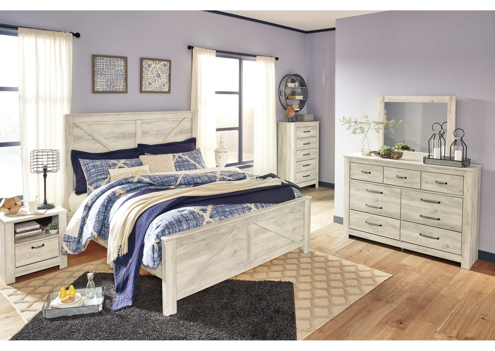 Bellaby King Crossbuck Panel Bed,Signature Design By Ashley