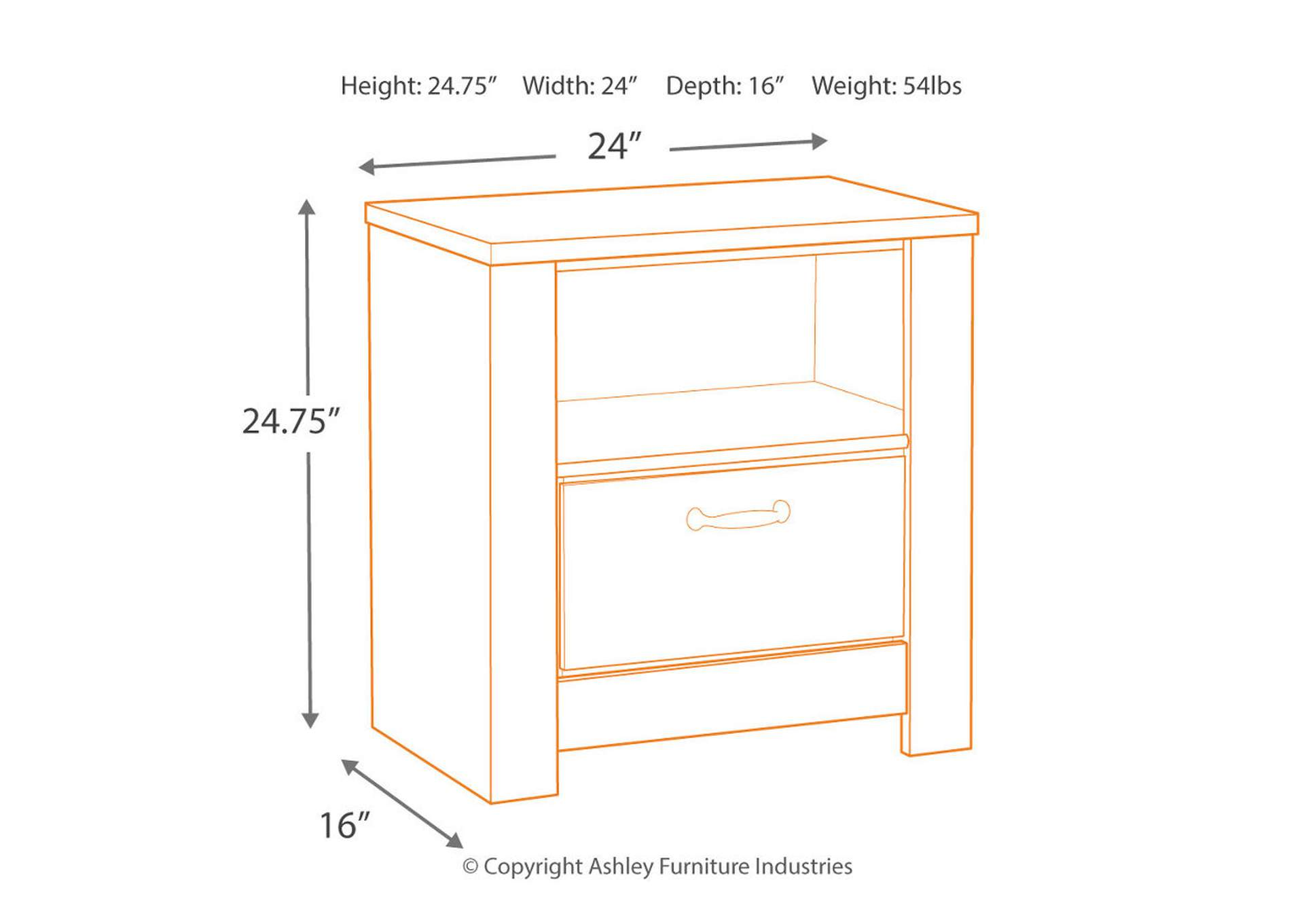 Bellaby Nightstand,Direct To Consumer Express