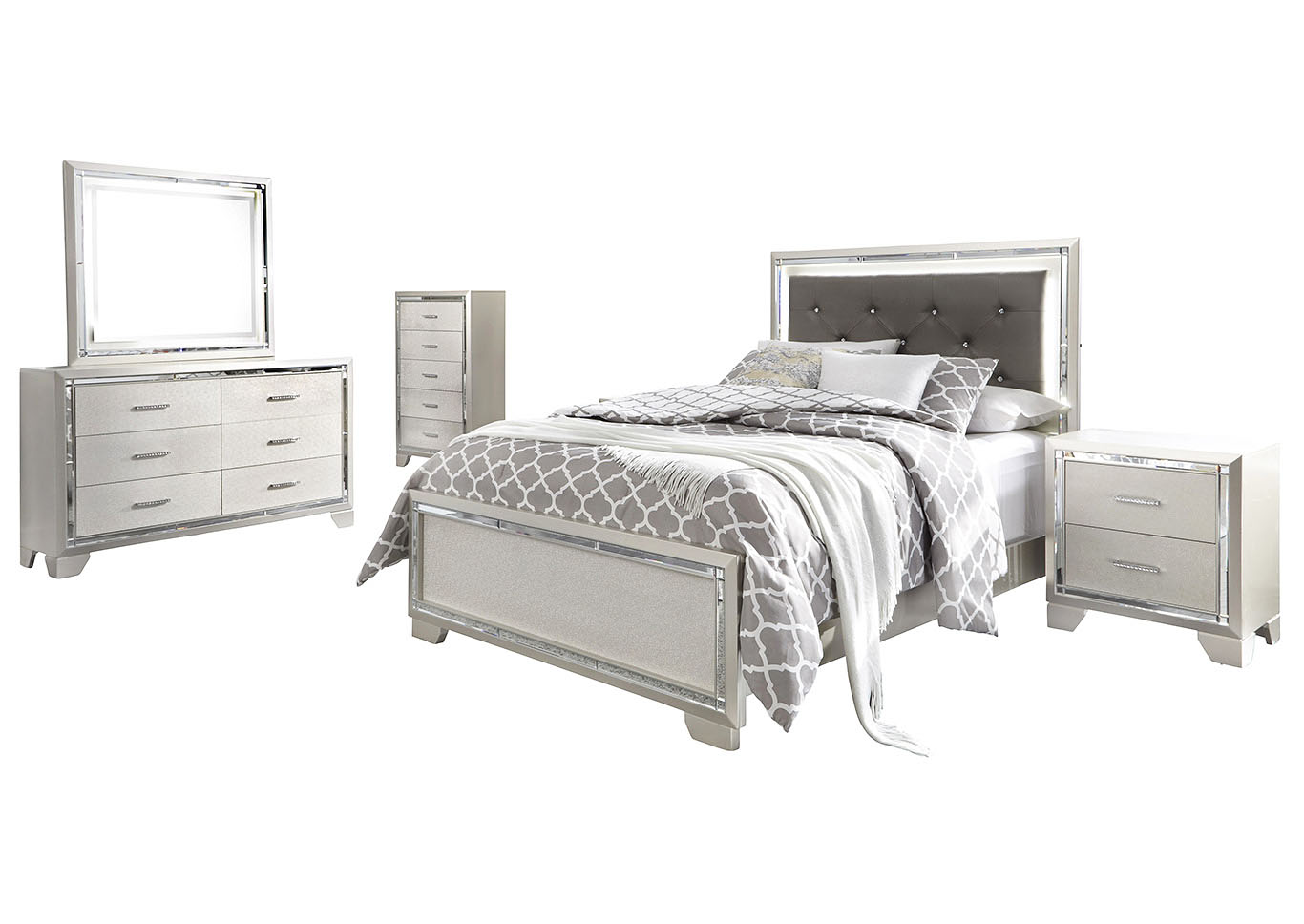 Lonnix Full Panel Bed w/Dresser & Mirror,Signature Design By Ashley
