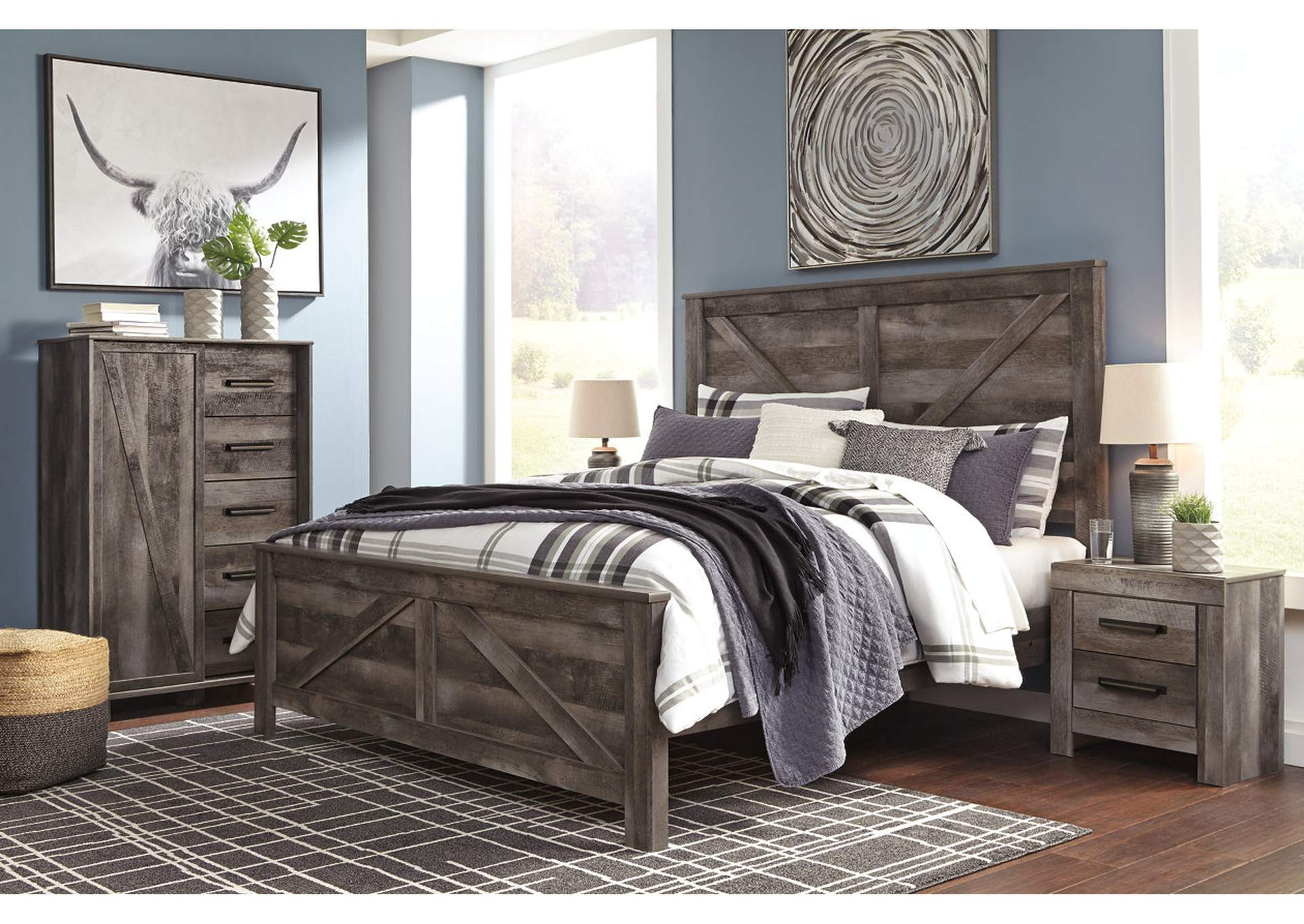 Wynnlow King Crossbuck Panel Bed,Signature Design By Ashley