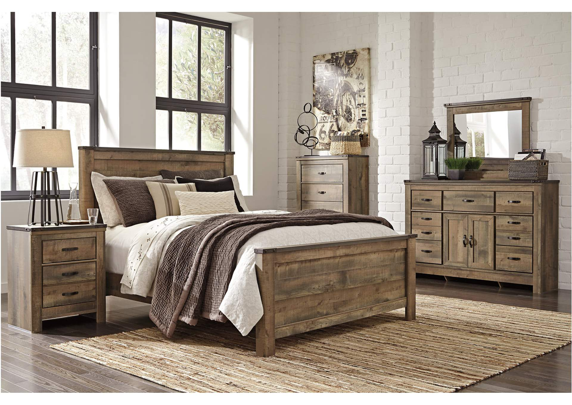 Trinell Queen Panel Bed w/ Dresser and Mirror,Signature Design By Ashley