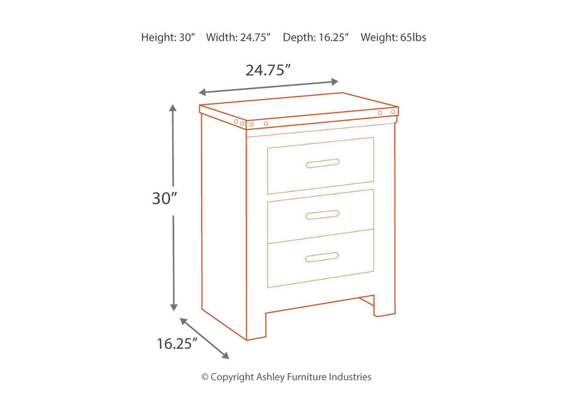 Trinell Nightstand,Direct To Consumer Express
