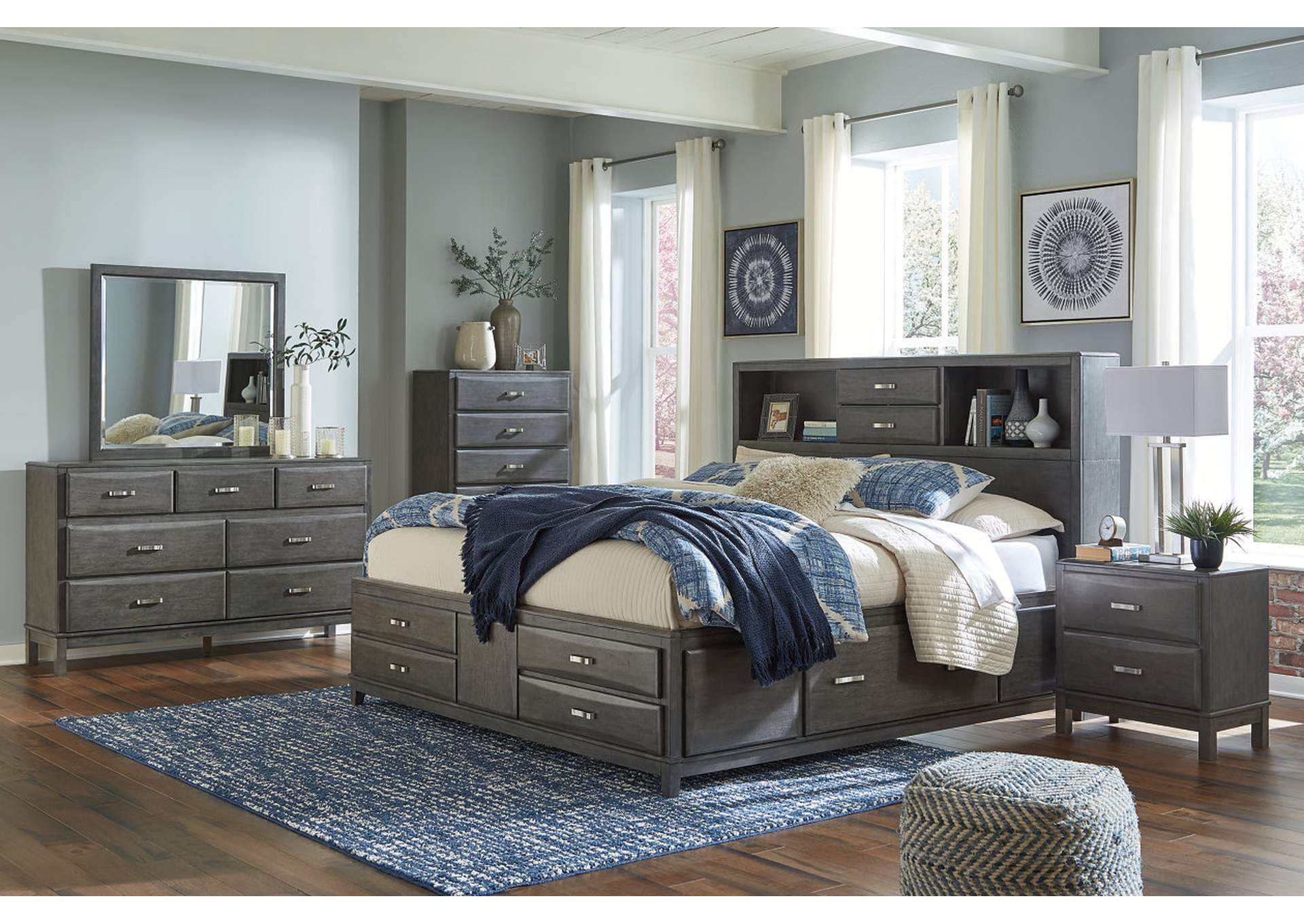 Caitbrook King Storage Bed w/Dresser and Mirror,Signature Design By Ashley