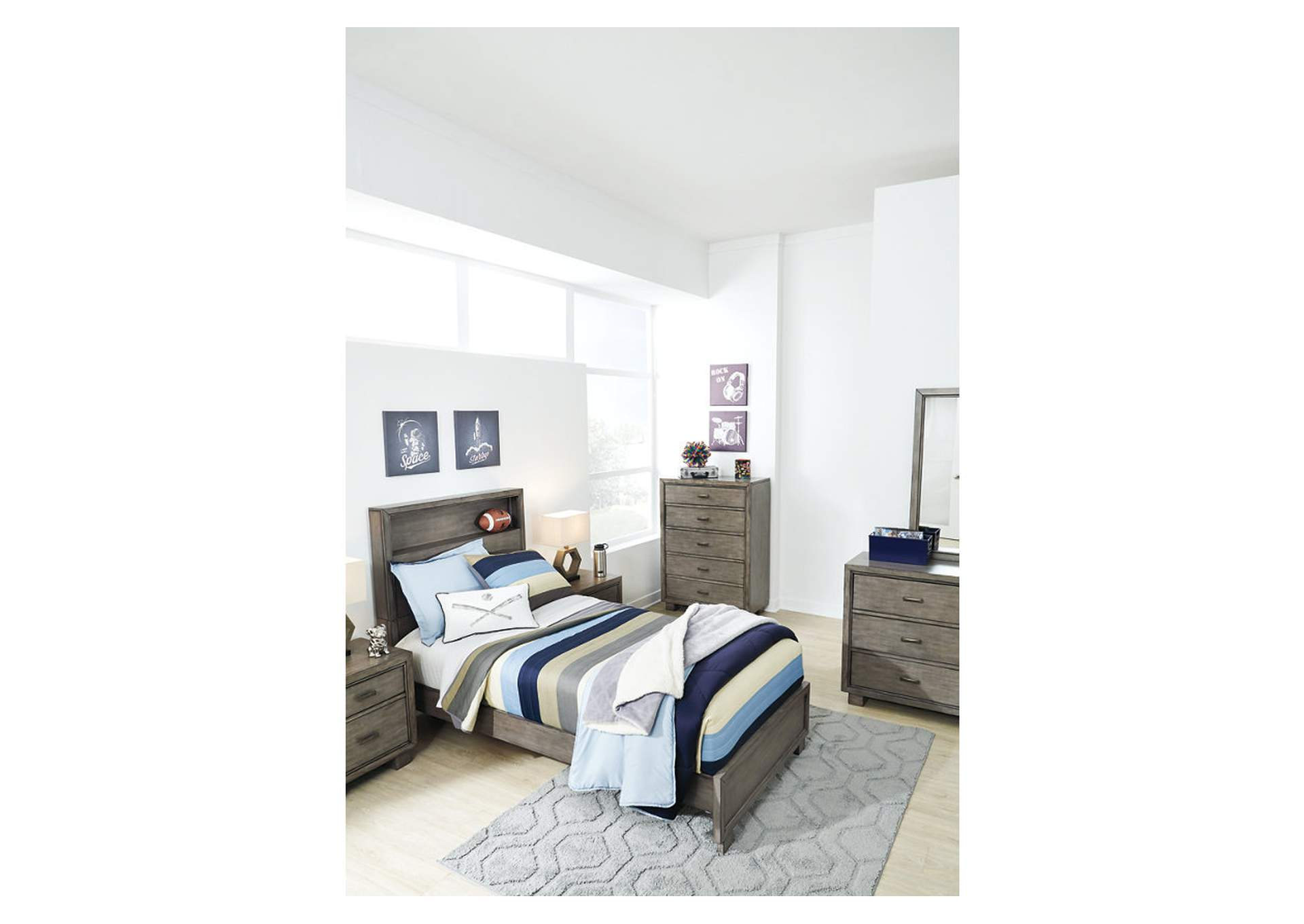 Arnett Twin Bookcase Bed,Signature Design By Ashley