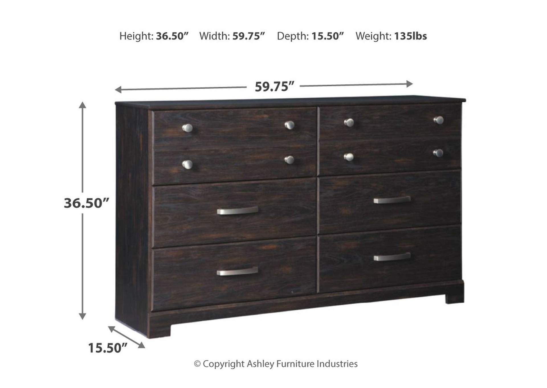 Reylow 6 Drawer Dresser,Signature Design By Ashley