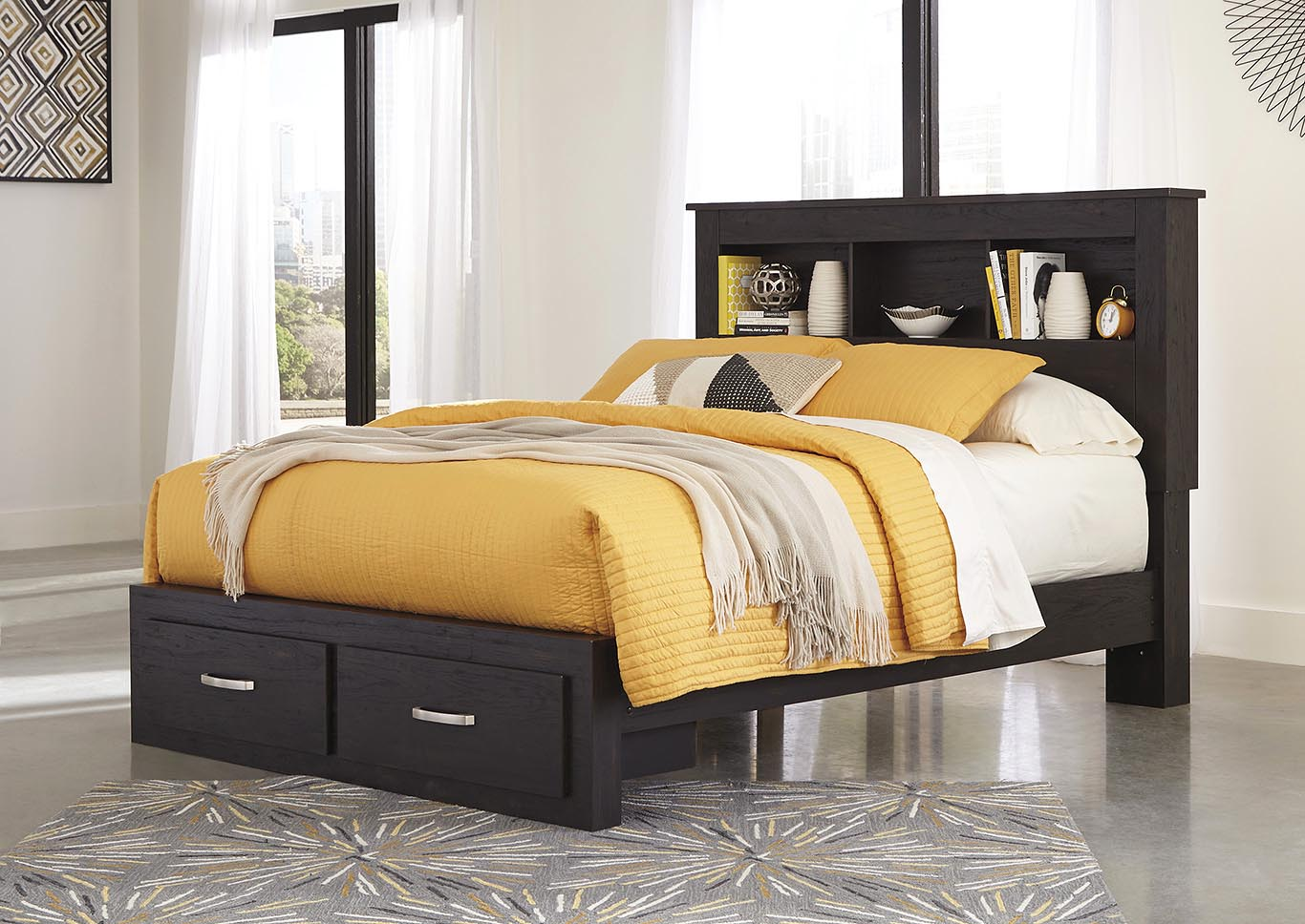 Reylow Queen Bookcase Storage Bed,Signature Design By Ashley