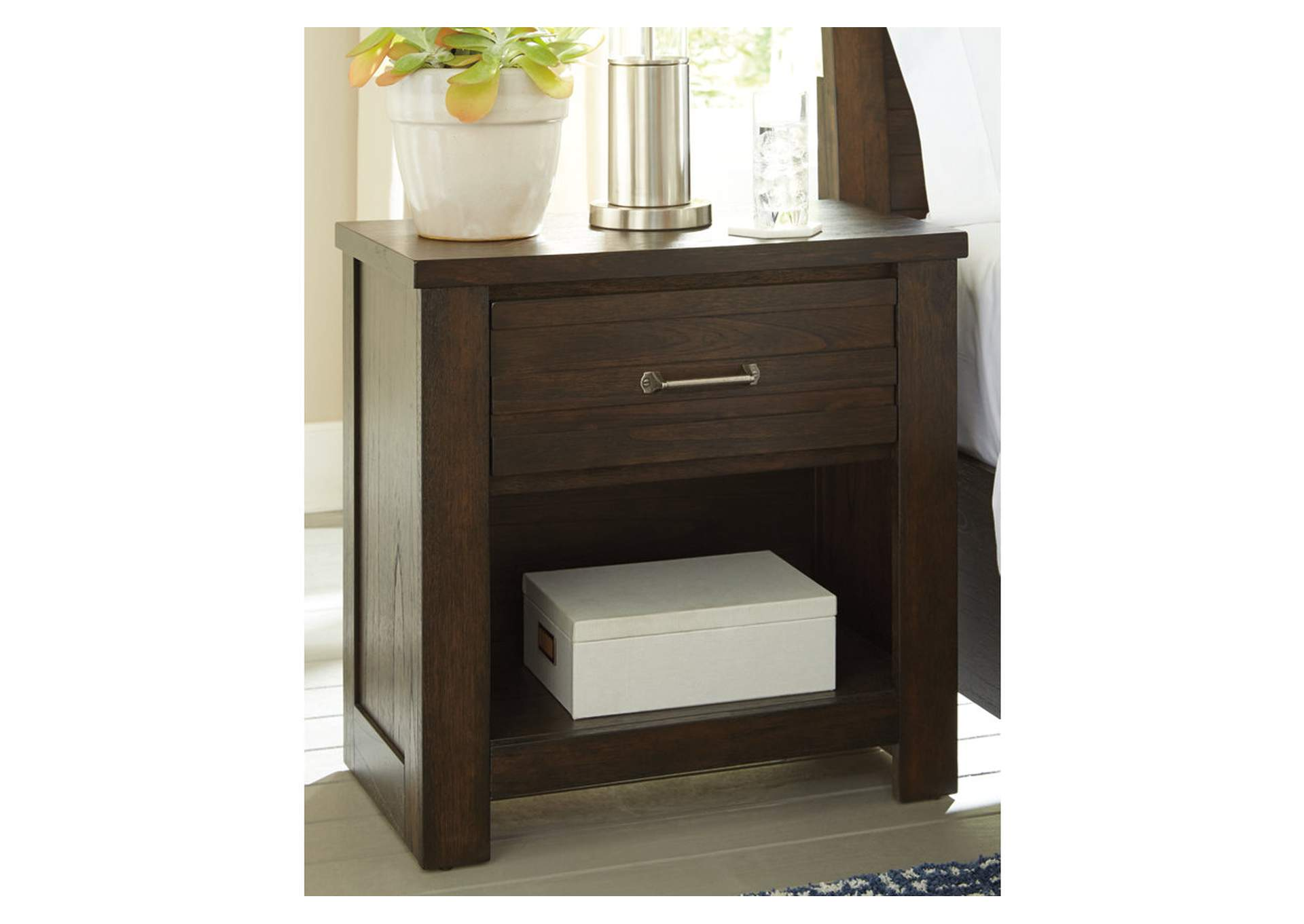Darbry Brown 1 Drawer Nightstand,Signature Design By Ashley