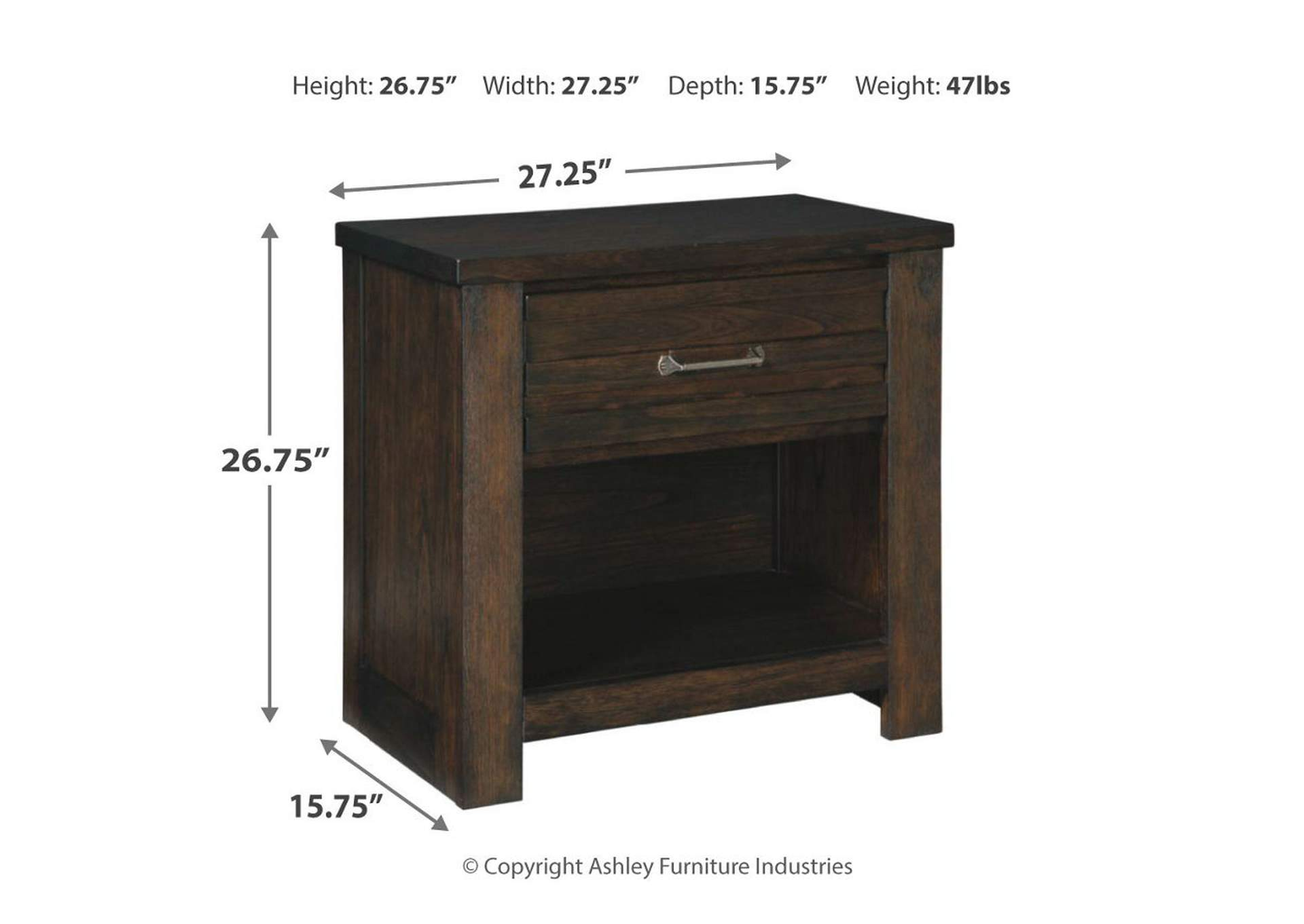 Darbry Nightstand,Direct To Consumer Express