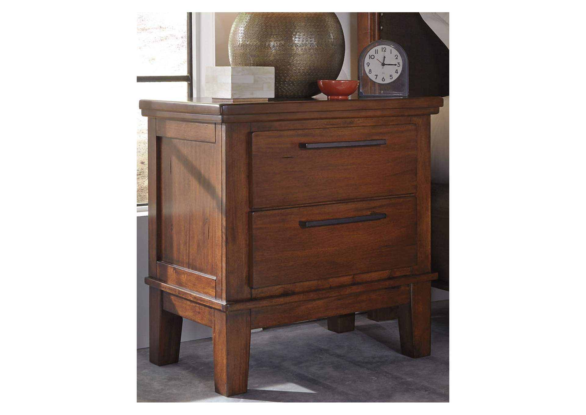 Ralene Medium Brown Two Drawer Night Stand,Signature Design By Ashley