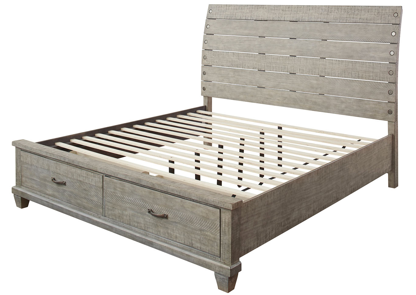 Naydell Gray California King Storage Bed,Benchcraft