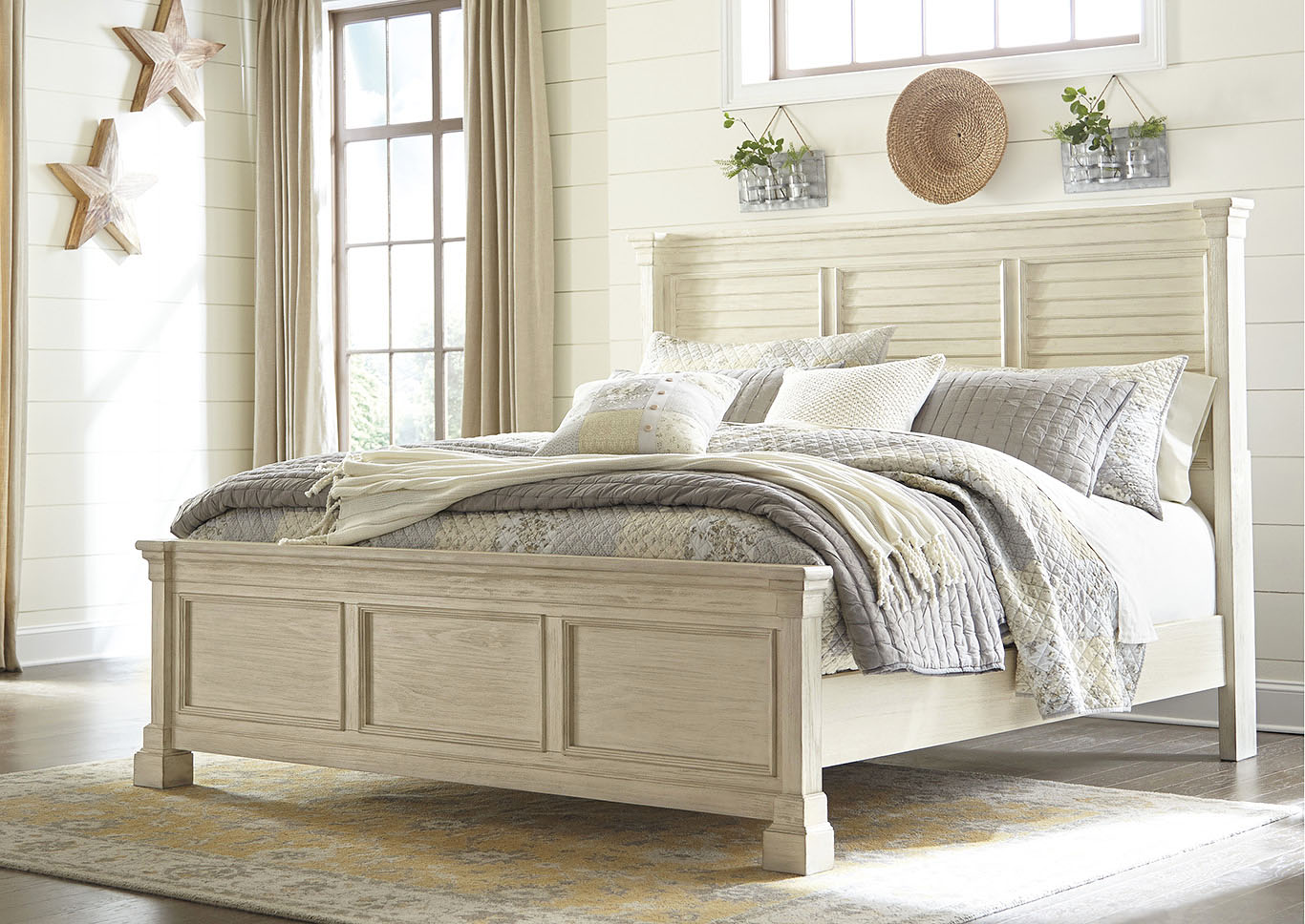 Bolanburg White California King Louvered Bed,Signature Design By Ashley