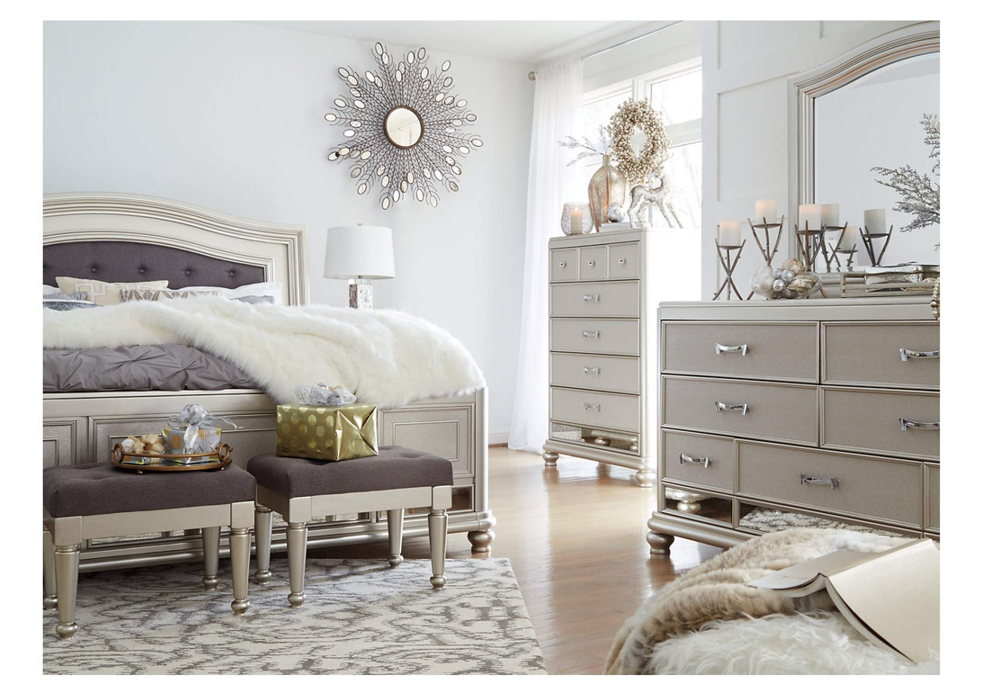 Coralayne Queen Panel Bed,Signature Design By Ashley