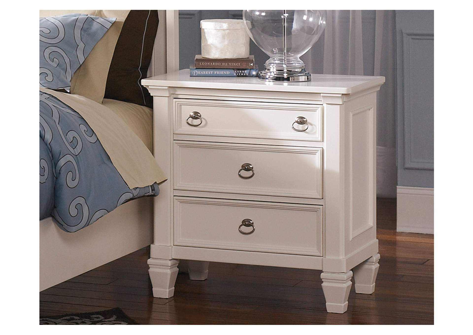 Prentice White Three Drawer Nightstand,Direct To Consumer Express