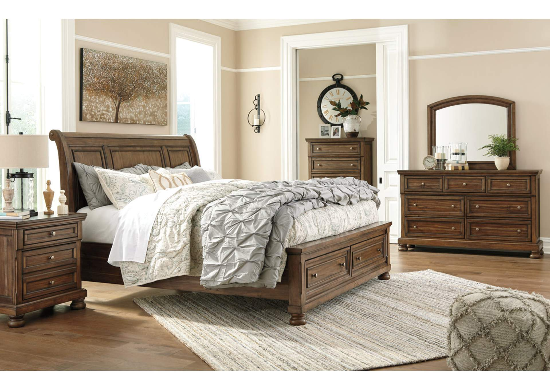Flynnter Medium Brown Nightstand,Direct To Consumer Express