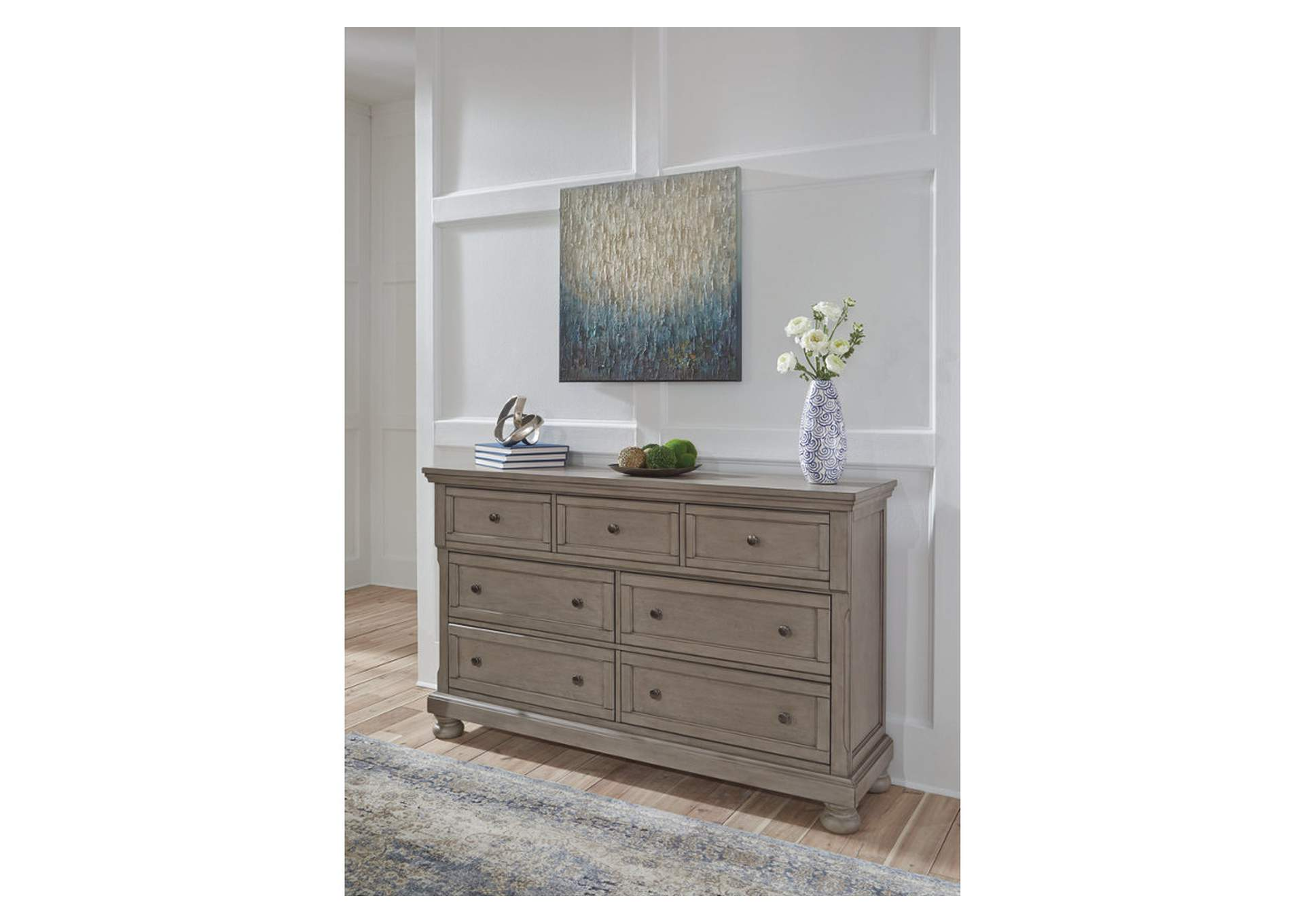 Lettner Light Gray Dresser,Signature Design By Ashley