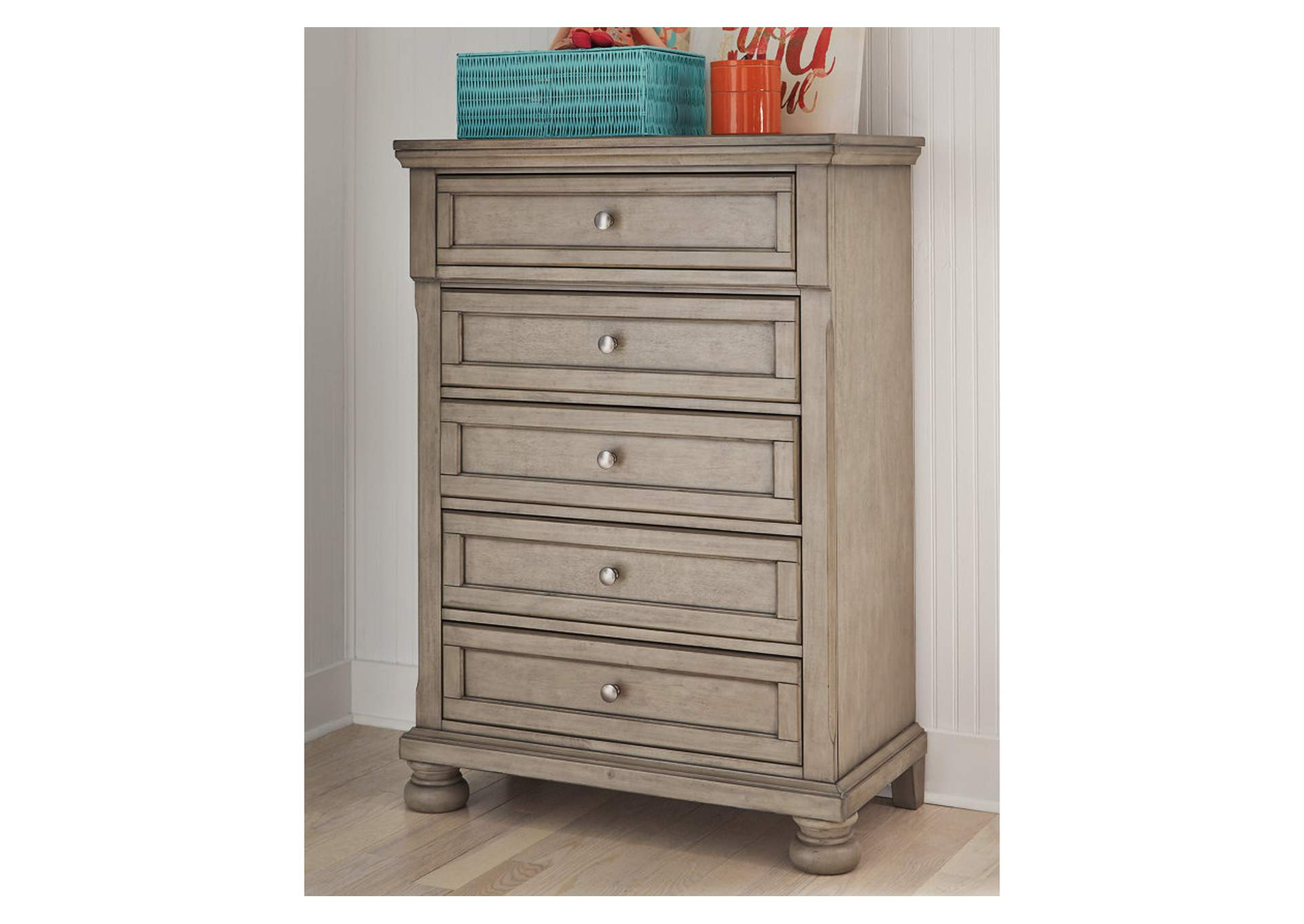 Lettner Light Gray Chest of Drawers,Signature Design By Ashley