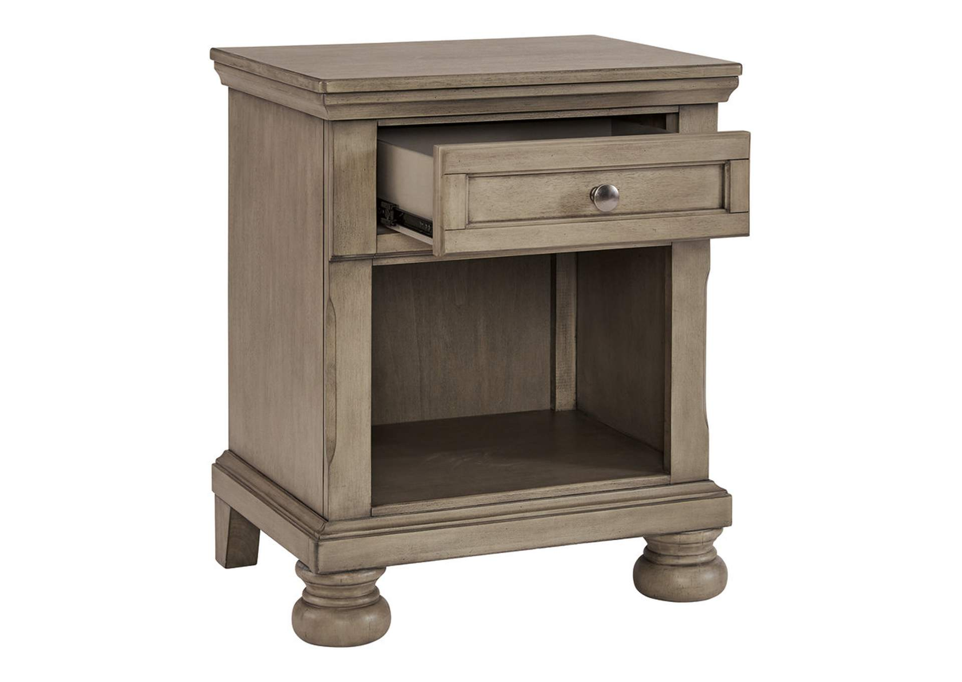 Lettner Light Gray Nightstand,Signature Design By Ashley