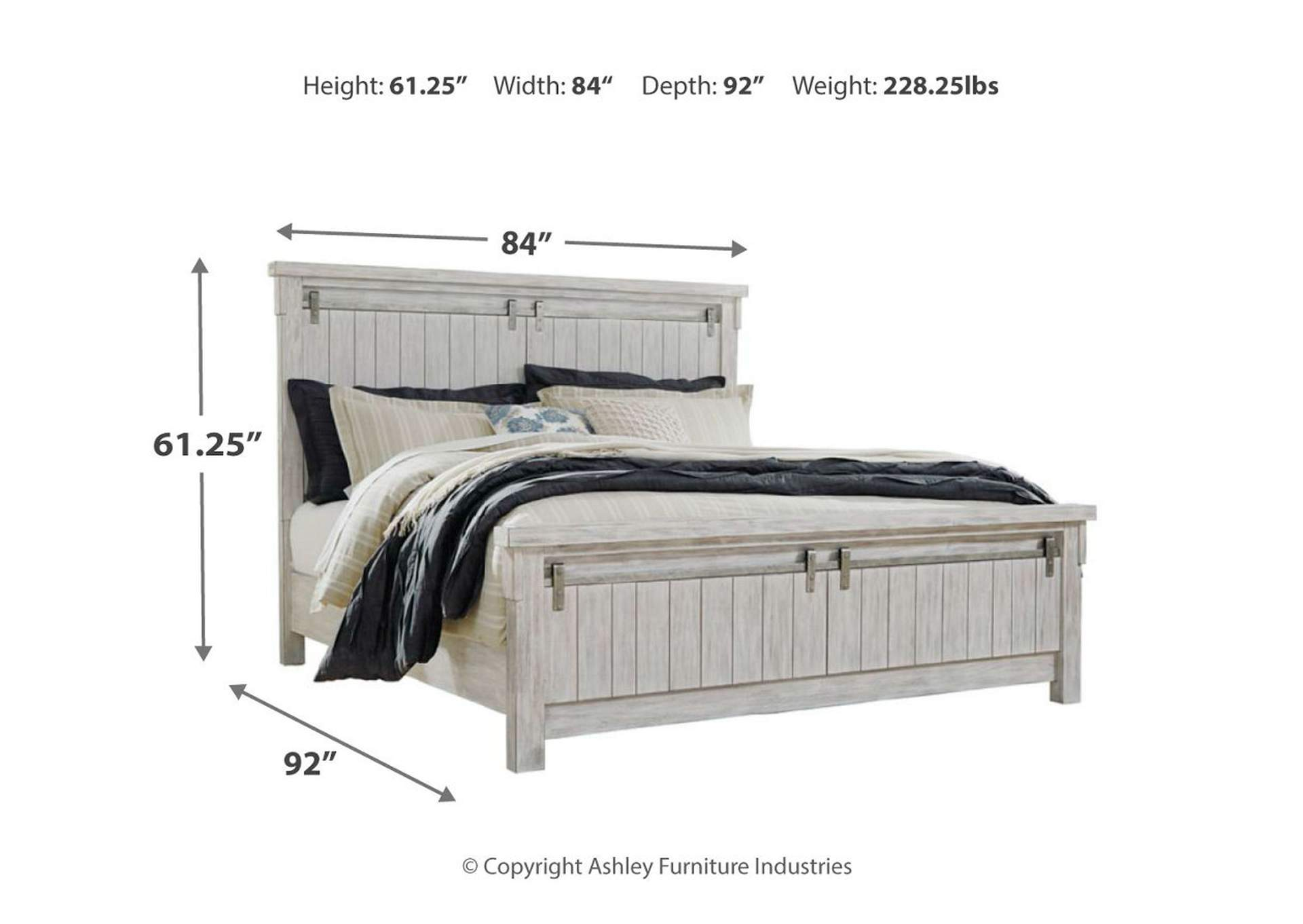 Brashland California King Panel Bed,Signature Design By Ashley