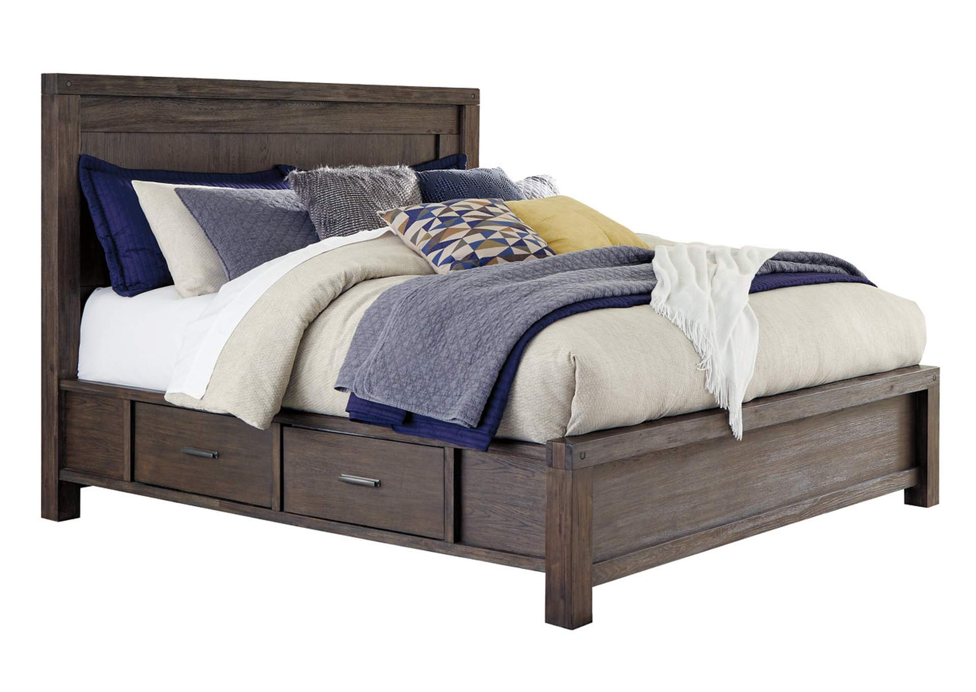 Dellbeck Dark Brown Storage Queen Bed,Millennium