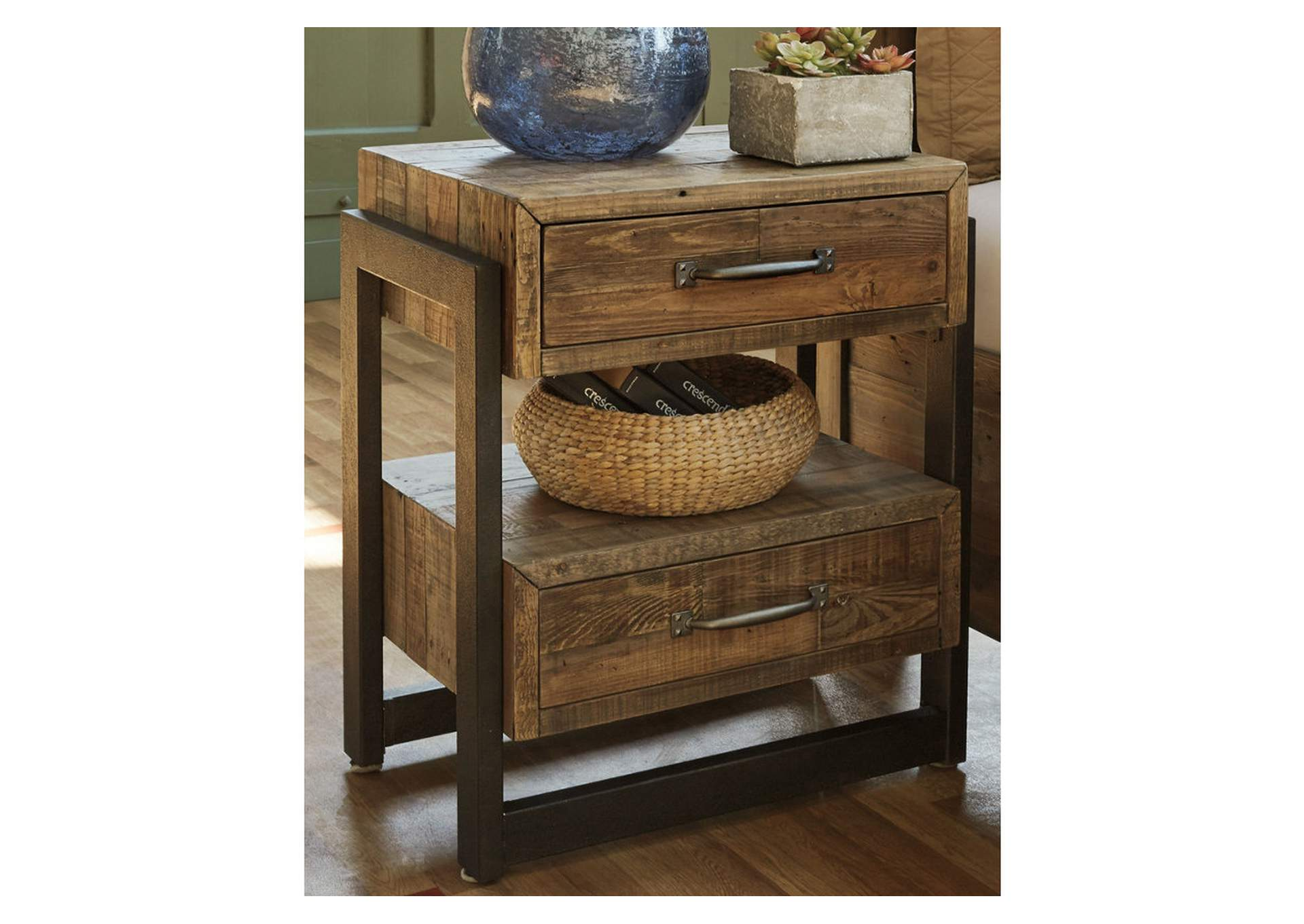 Sommerford Brown Two Drawer Nightstand,Direct To Consumer Express