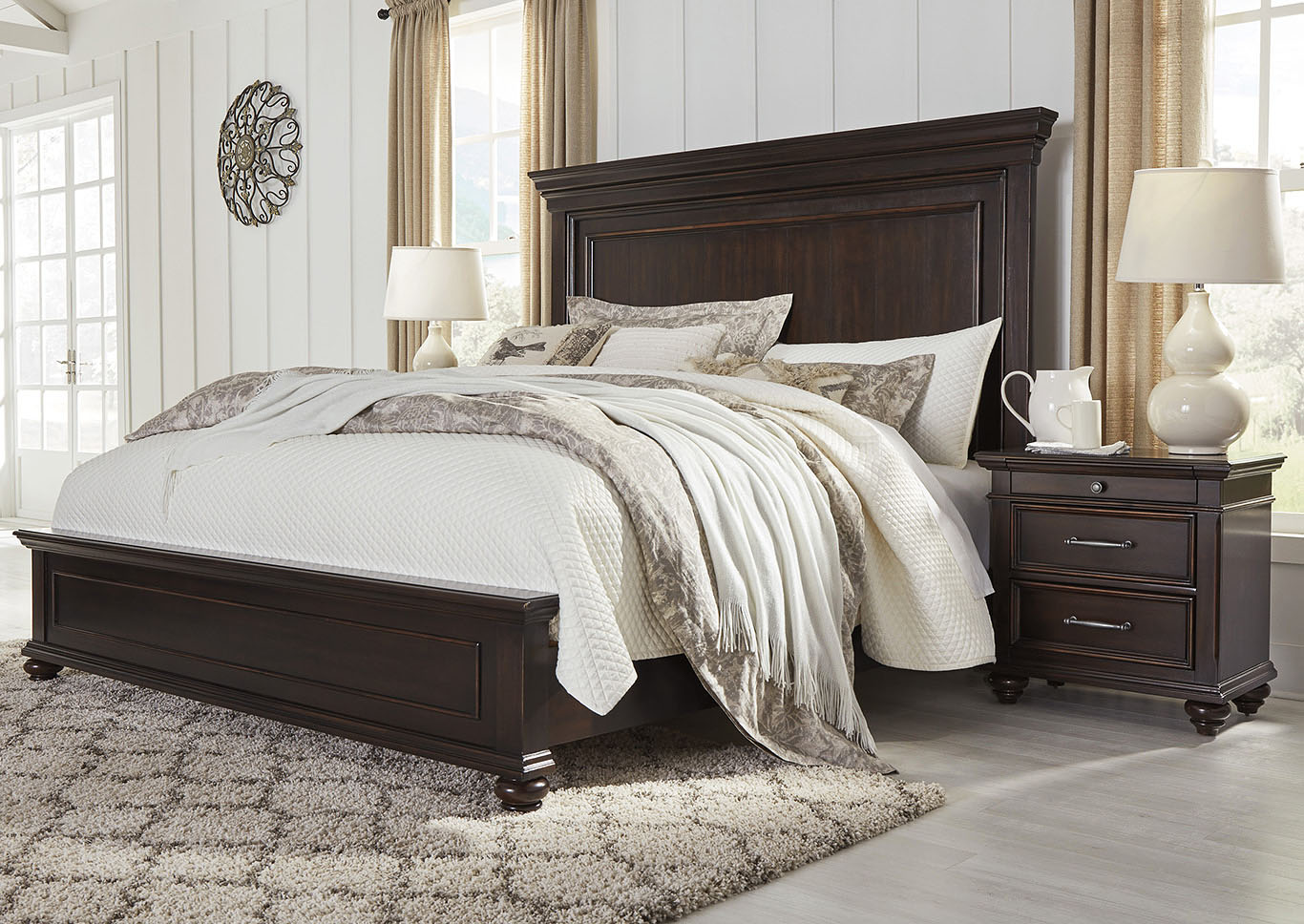 Brynhurst Brown King Storage Bed,Signature Design By Ashley