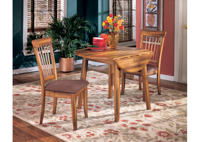 Berringer Round Drop Leaf Table & 2 Chairs,Ashley
