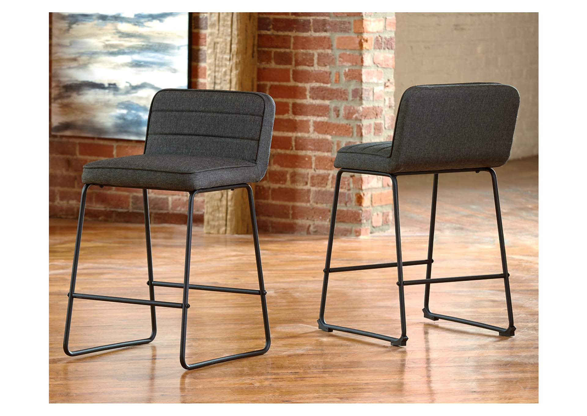 Nerison Counter Height Bar Stool (Set of 2),Signature Design By Ashley
