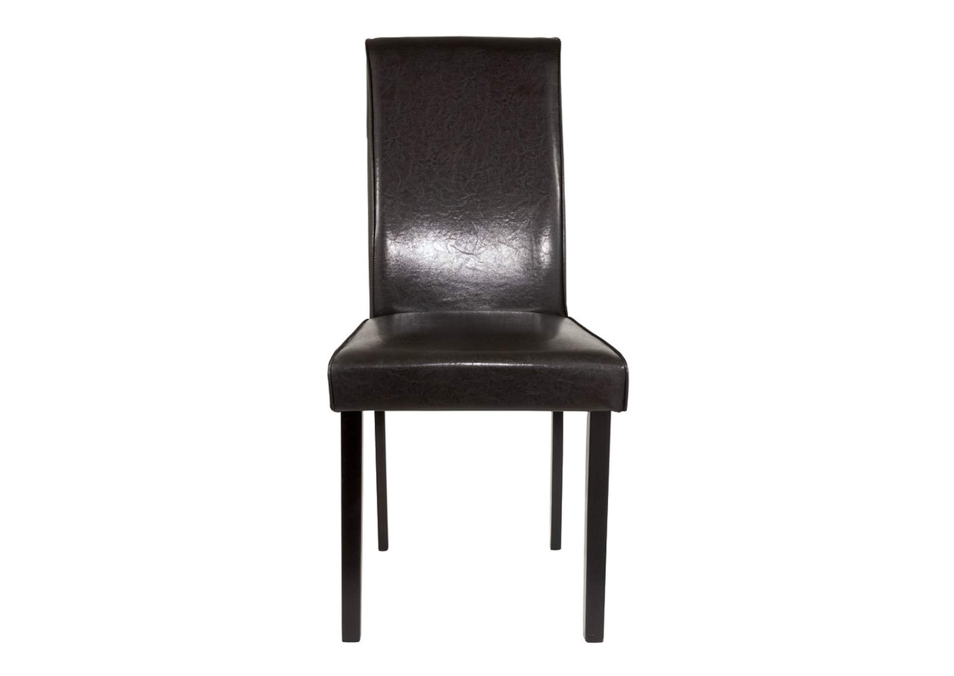 Kimonte Dark Brown Upholstered Chair (Set of 2),Direct To Consumer Express