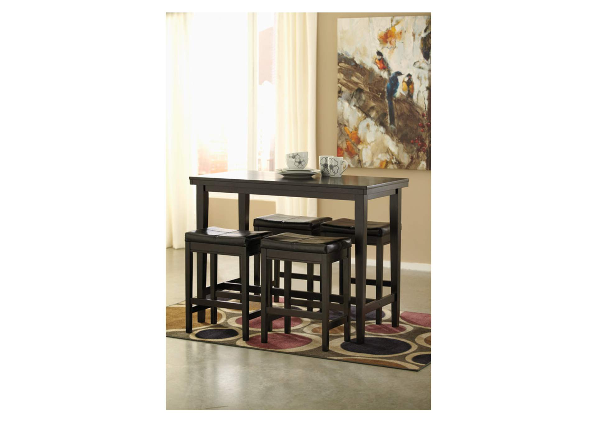 Kimonte Counter Height Bar Stool (Set of 2),Signature Design By Ashley