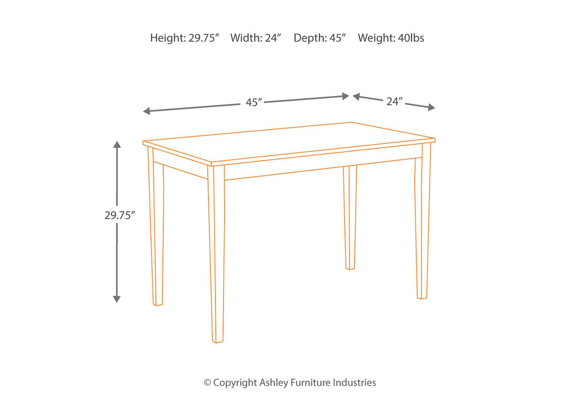 Kimonte Rectangular Dining Table,Direct To Consumer Express