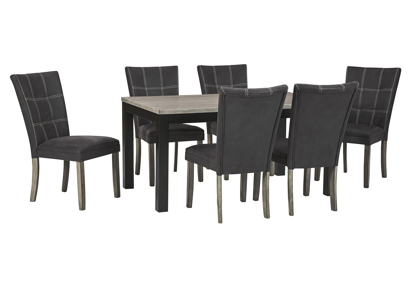 Dontally Two-tone Dining Room Table w/6 Side Chair,Benchcraft