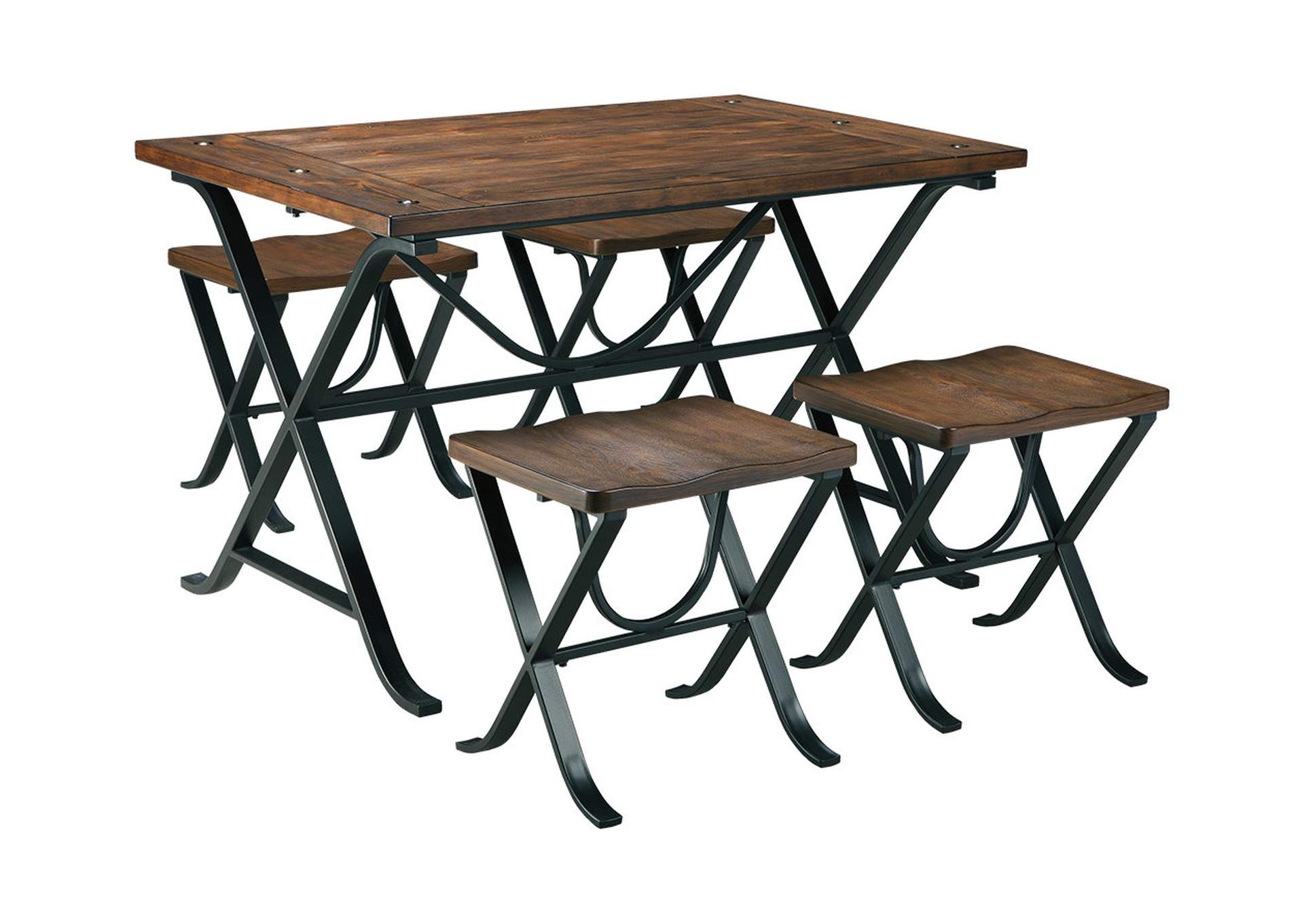 Freimore Rectangular Dining Table w/ 4 Stools,Signature Design By Ashley