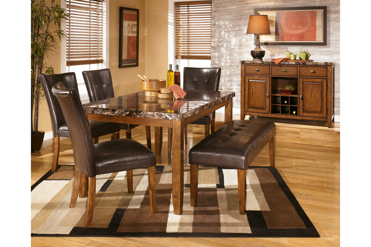 Lacey Rectangular Dining Table w/ 4 Side Chairs & Bench,Signature Design By Ashley