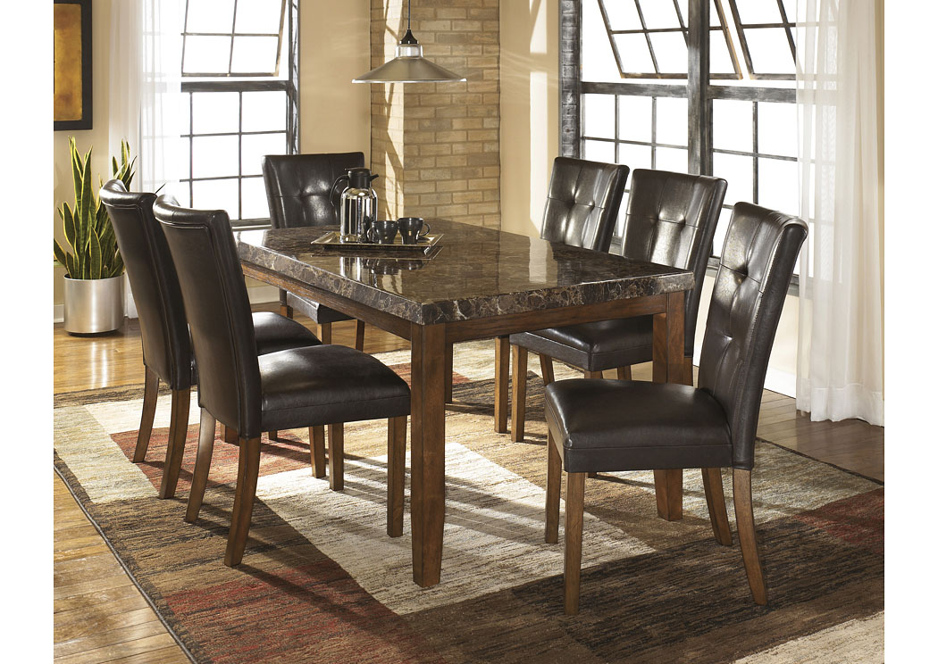 Lacey Rectangular Dining Table w/6 Medium Brown Chairs,Signature Design By Ashley