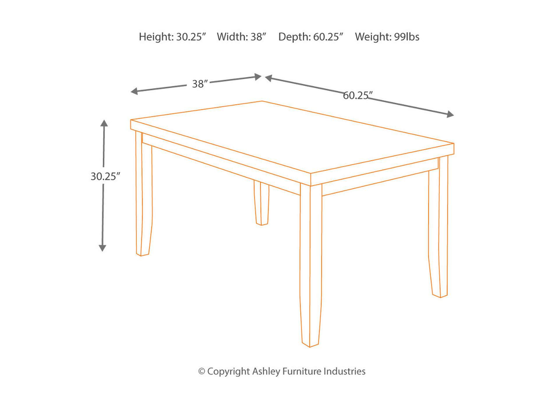 Lacey Rectangular Dining Table,Signature Design By Ashley