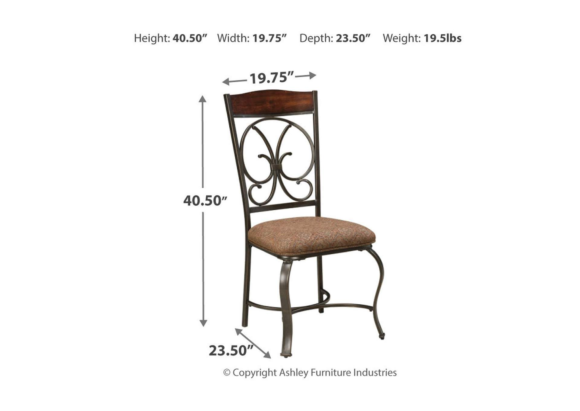 Glambrey Single Dining Room Chair,Signature Design By Ashley
