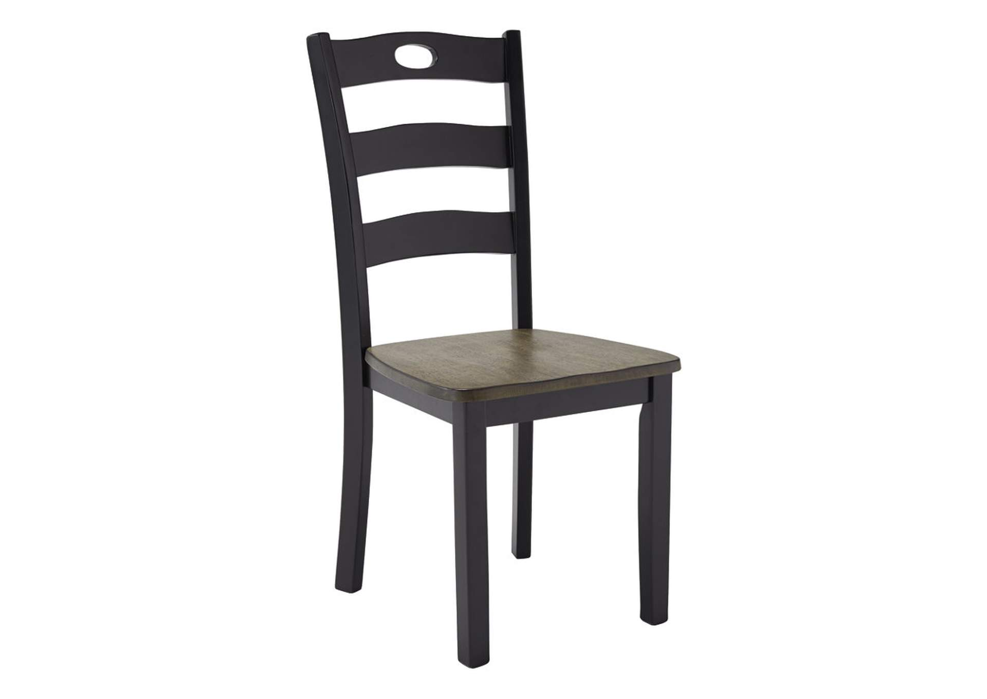 Froshburg Grayish Brown/Black Dining Room Side Chair (Set of 2),Direct To Consumer Express