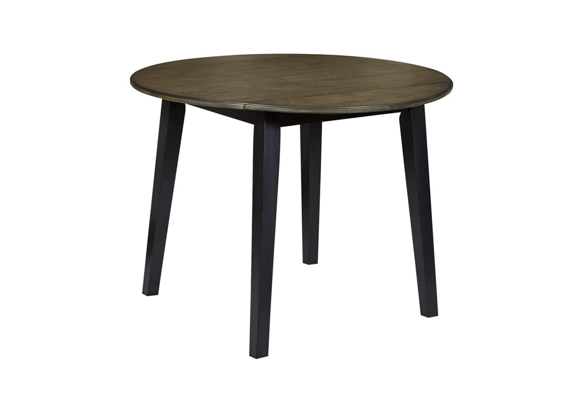 Froshburg Grayish Brown/Black Round Drop Leaf Table,Signature Design By Ashley