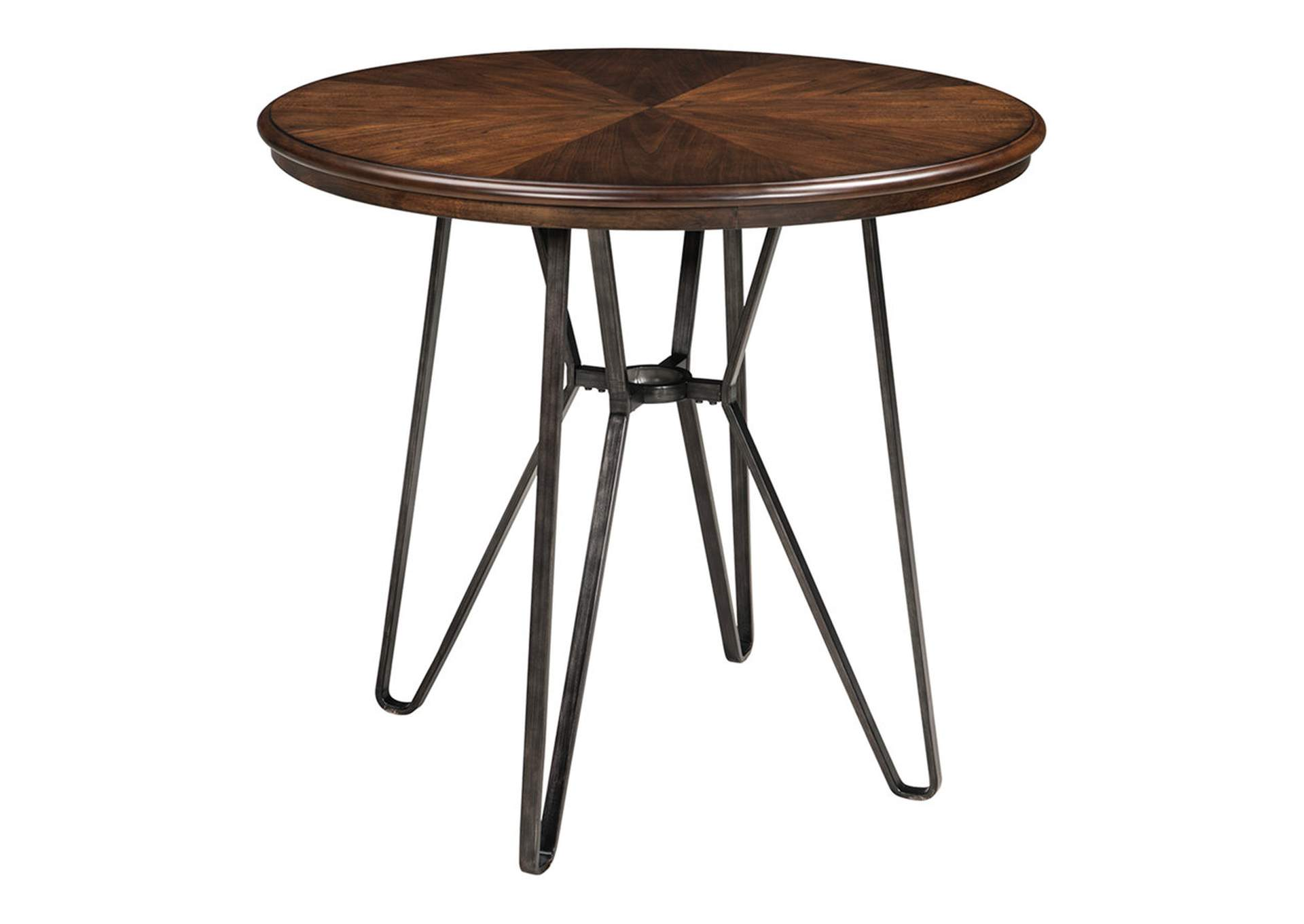 Centiar Two-Tone Brown Round Dining Room Counter Table,Direct To Consumer Express