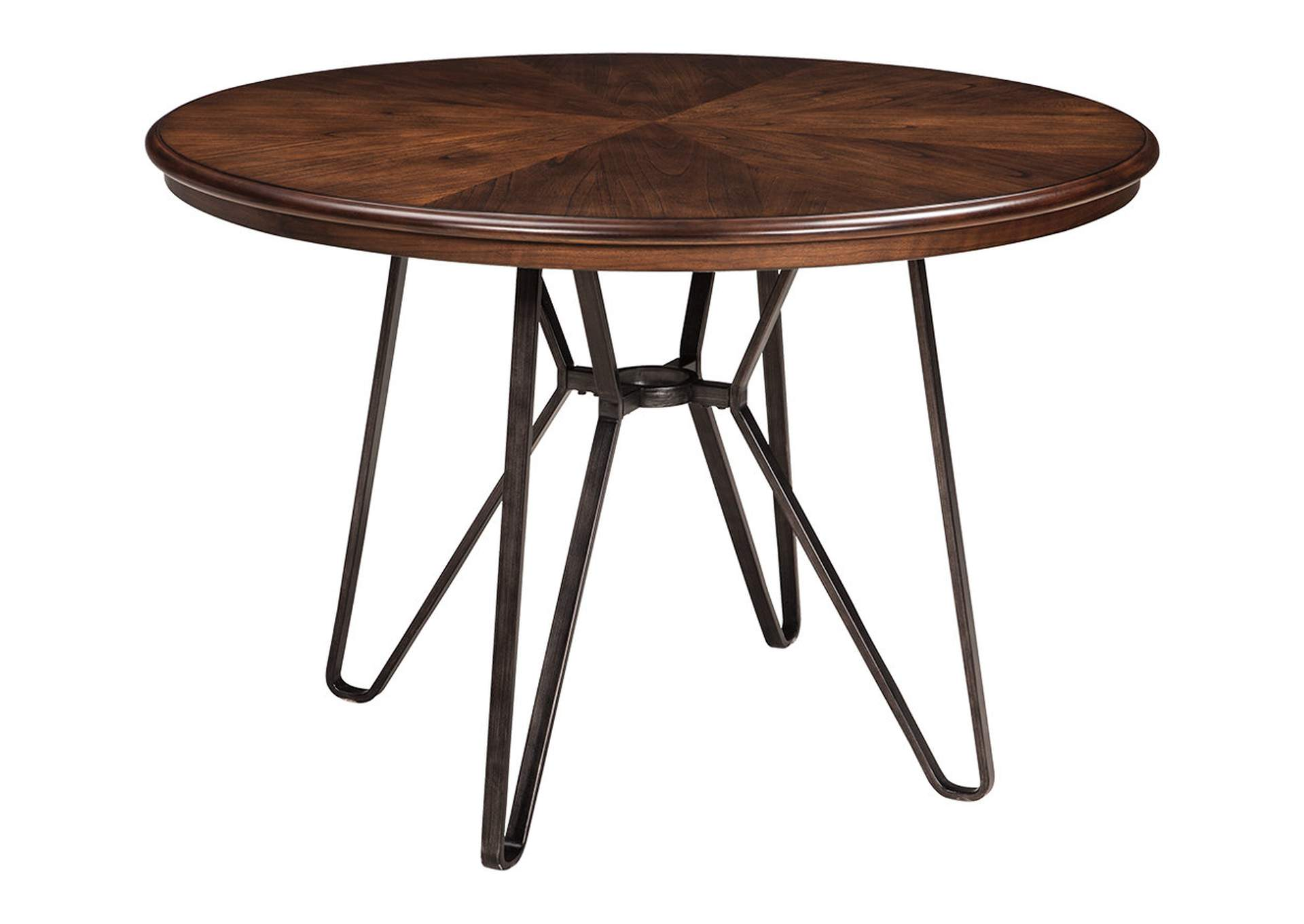 Centiar Two-Tone Brown Round Dining Room Table,Direct To Consumer Express