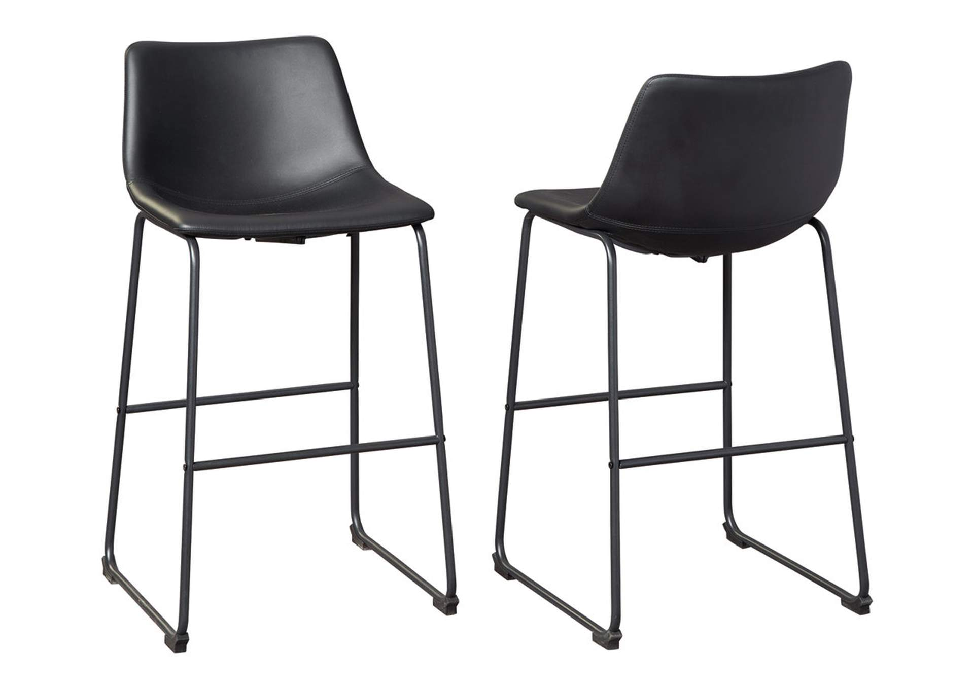 Centiar Black Pub Height Bar Stool (Set of 2),Signature Design By Ashley