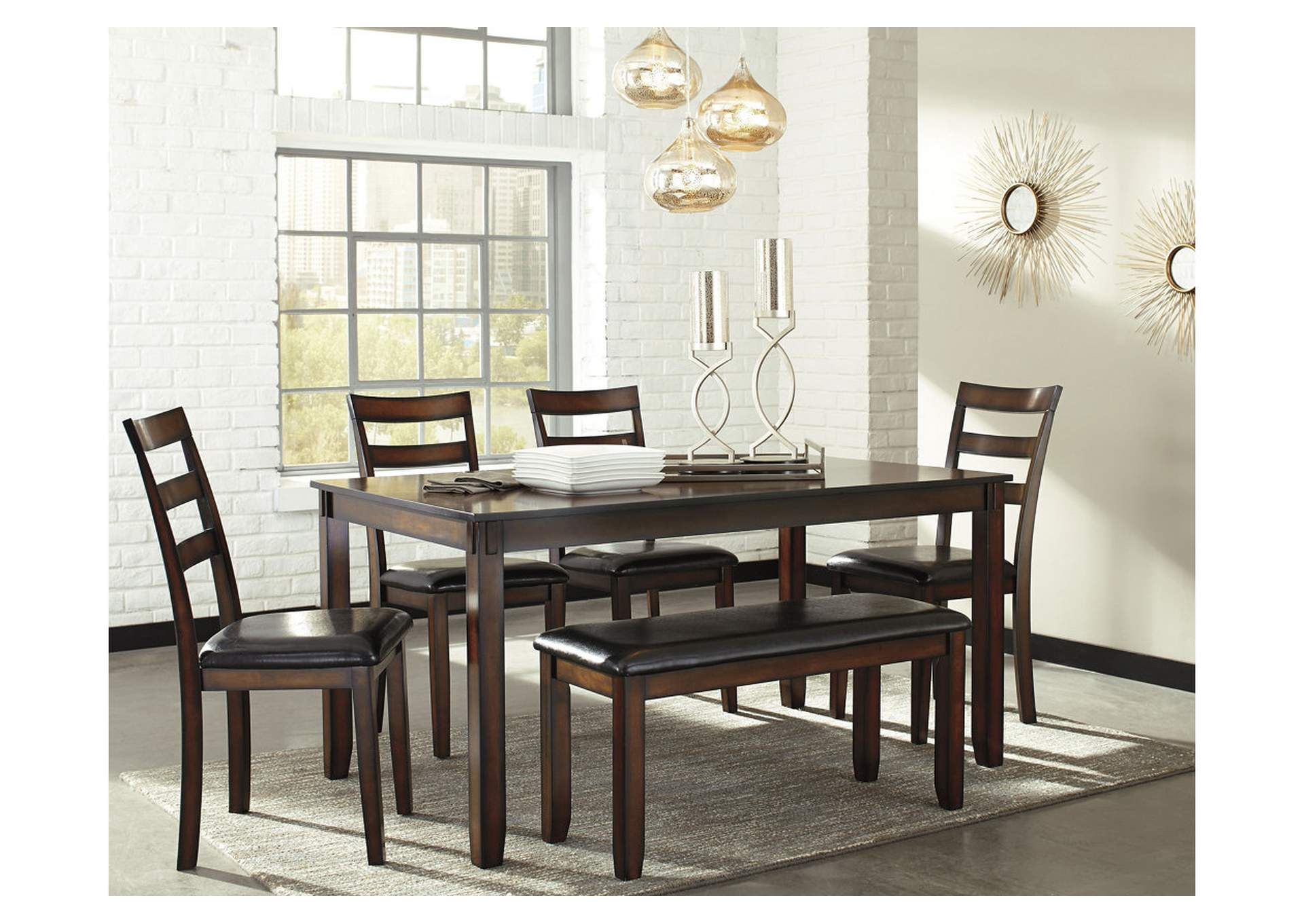 Coviar Brown Dining Room Table Set,Signature Design By Ashley